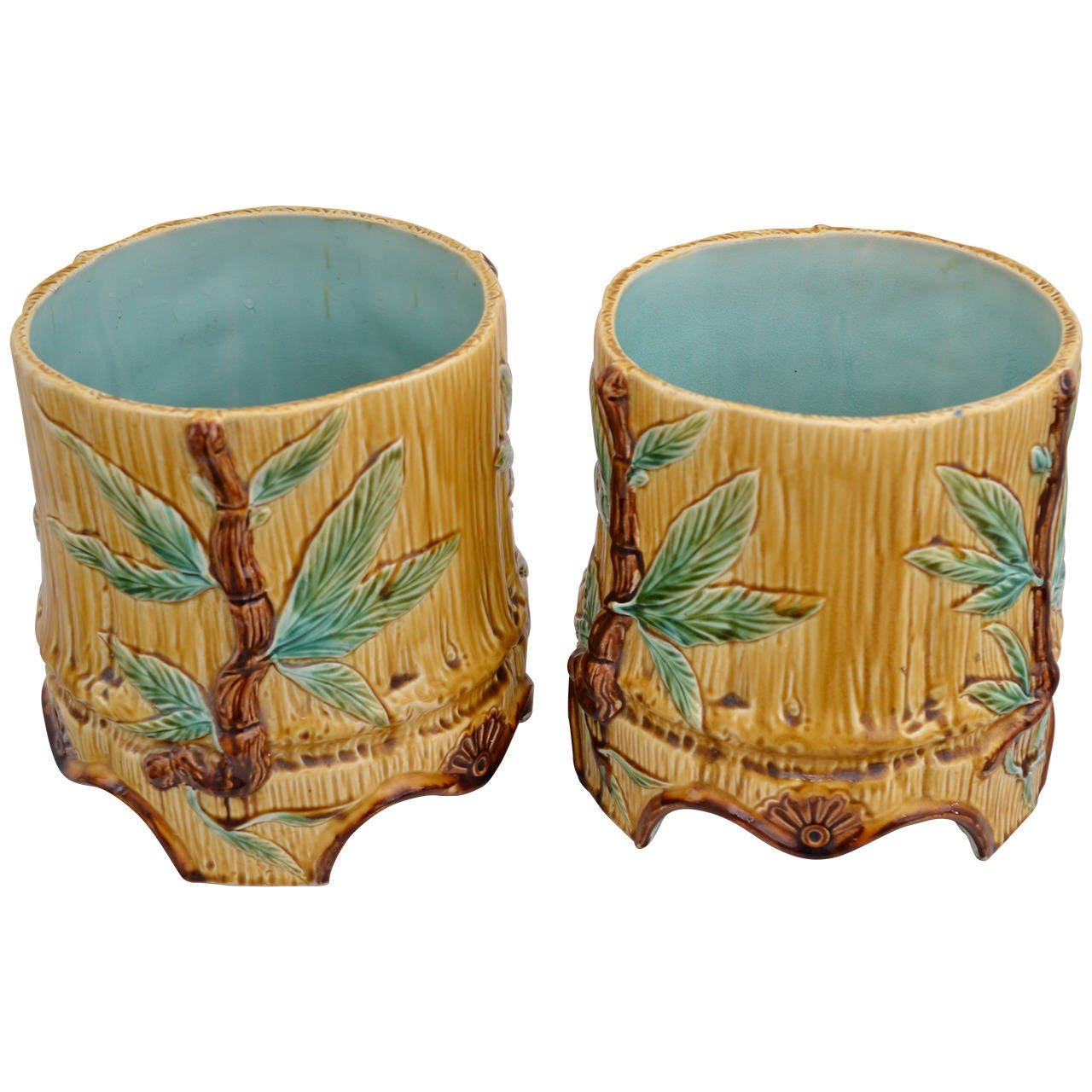 Flower Pots For Sale Two Nice Ceramic Flower Pots For Sale At 1stdibs