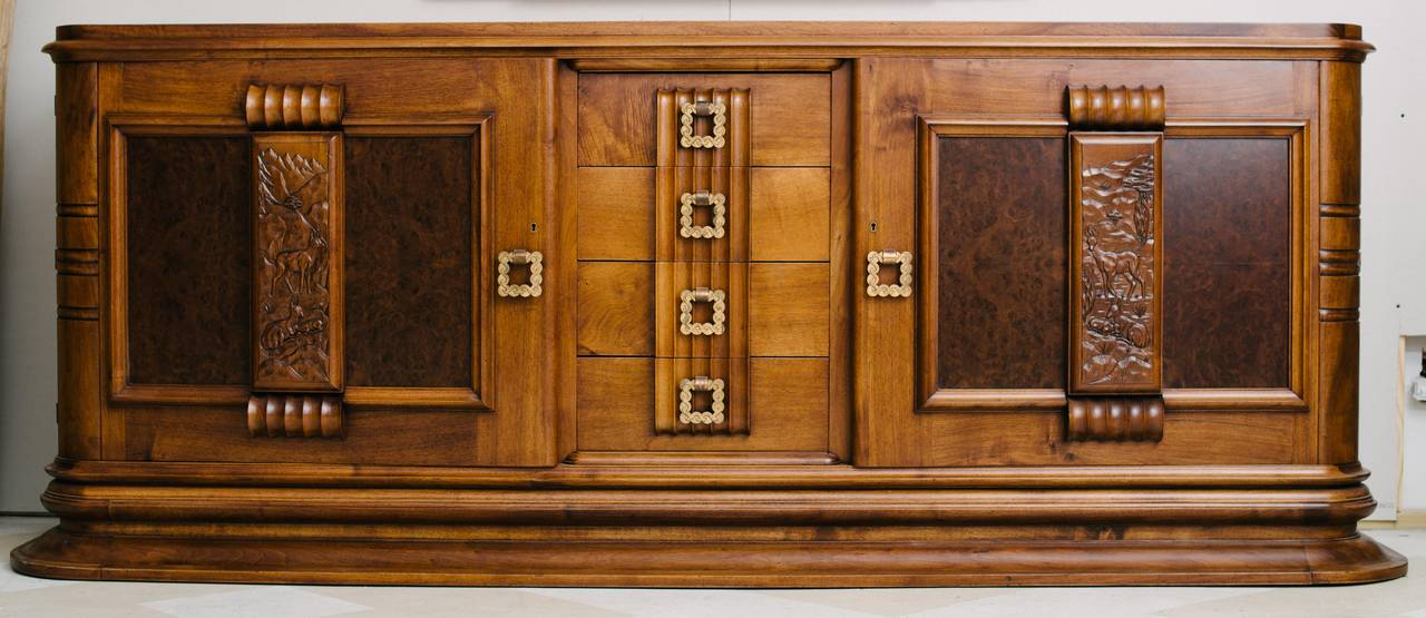 French Art Deco Gaston Poisson Buffet For Sale At 1stdibs