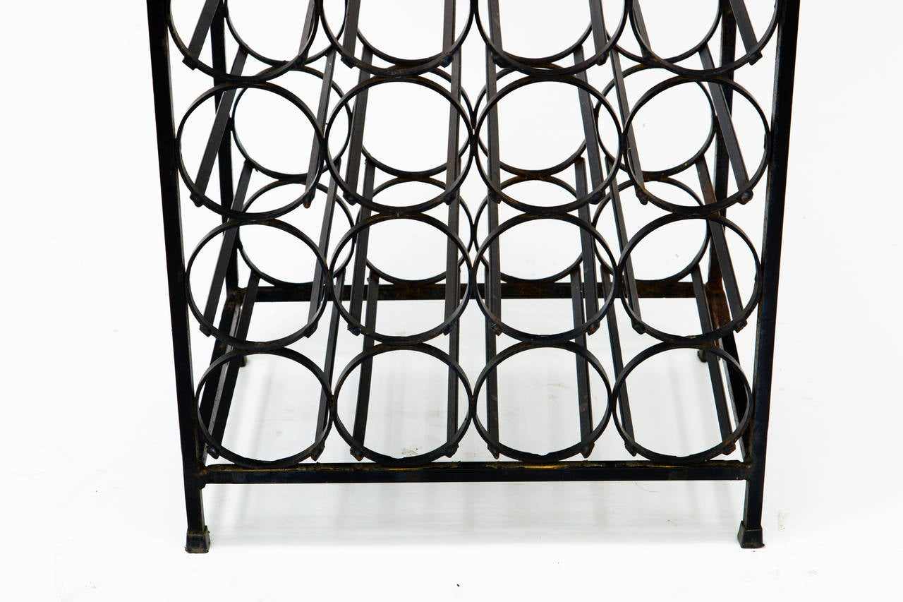 Arthur Umanoff Iron Wine Rack At 1stdibs