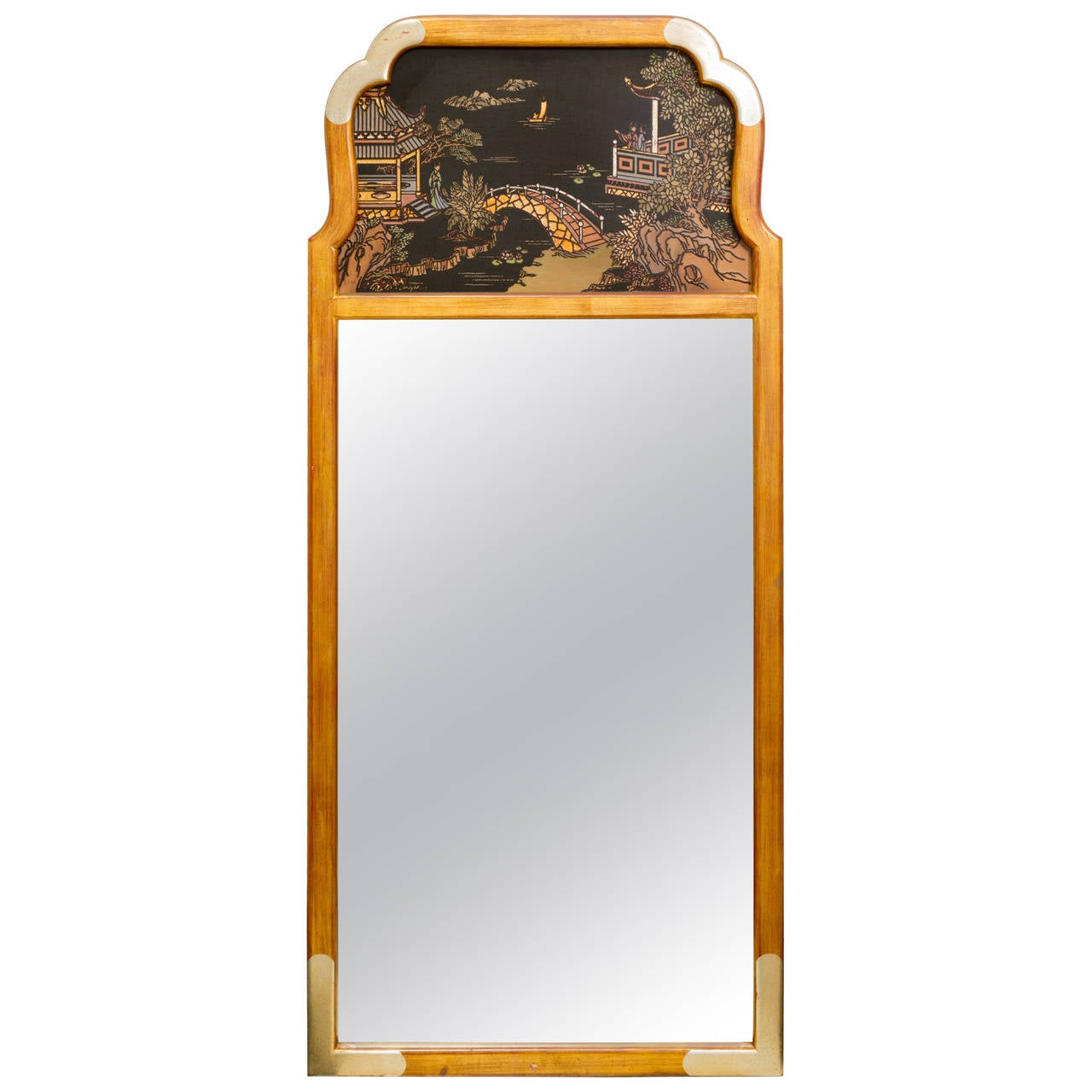 Asian Style Wall Mirrors Asian Style Wall Mirror By La Barge For Sale At 1stdibs