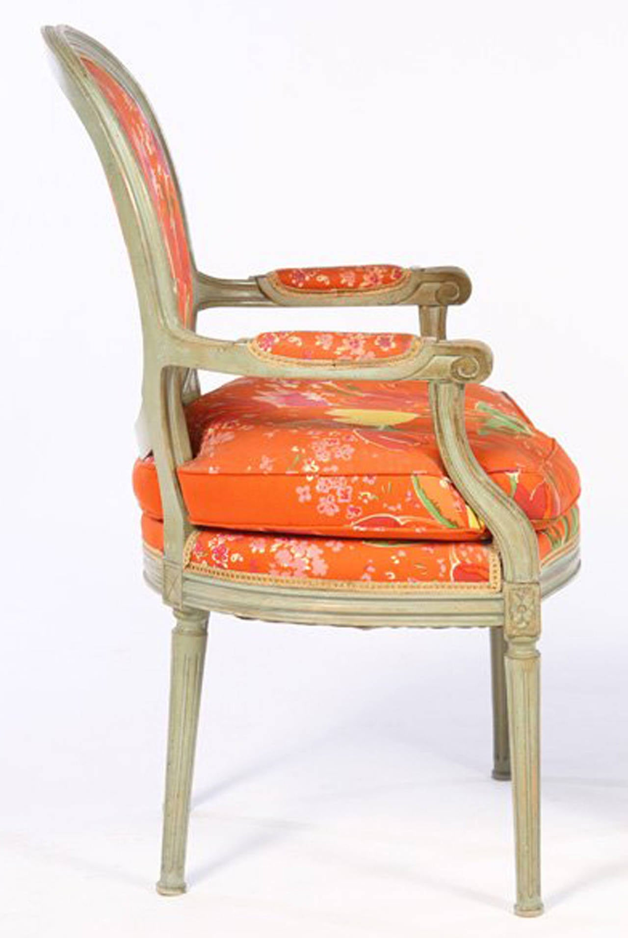 Fauteuils Tulipes Pair Of Louis Xvi Style Fauteuils Paule Marrot Fabric