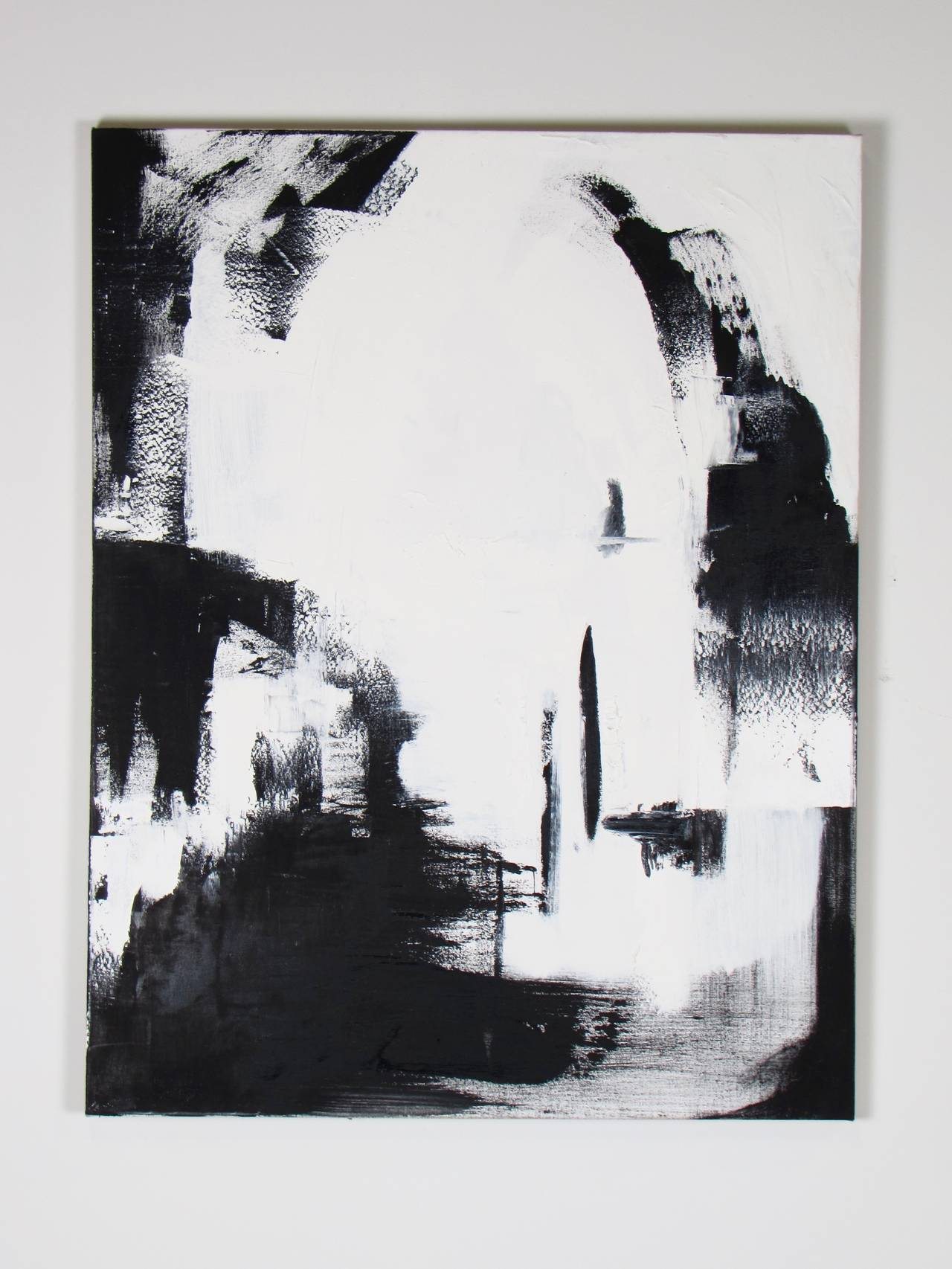 Black And White Canvas Pictures Large Black And White Oil On Canvas Abstract Paintings By Guillermo Calles
