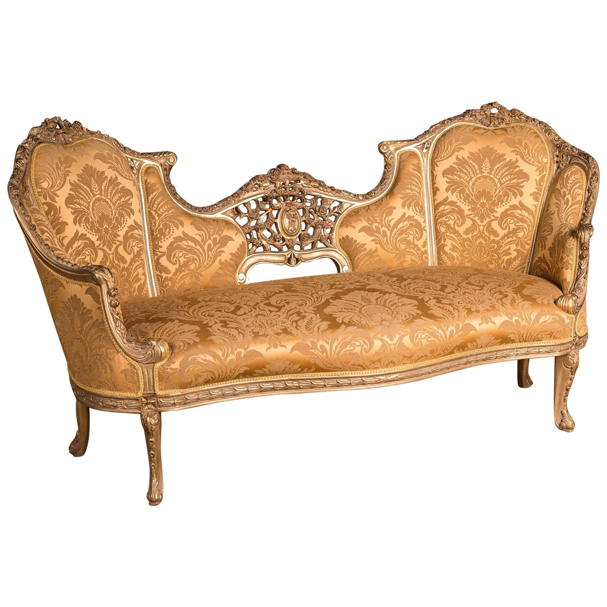 Canape Sofa Large Elegant French Sofa Canape In Louis Quinze Style