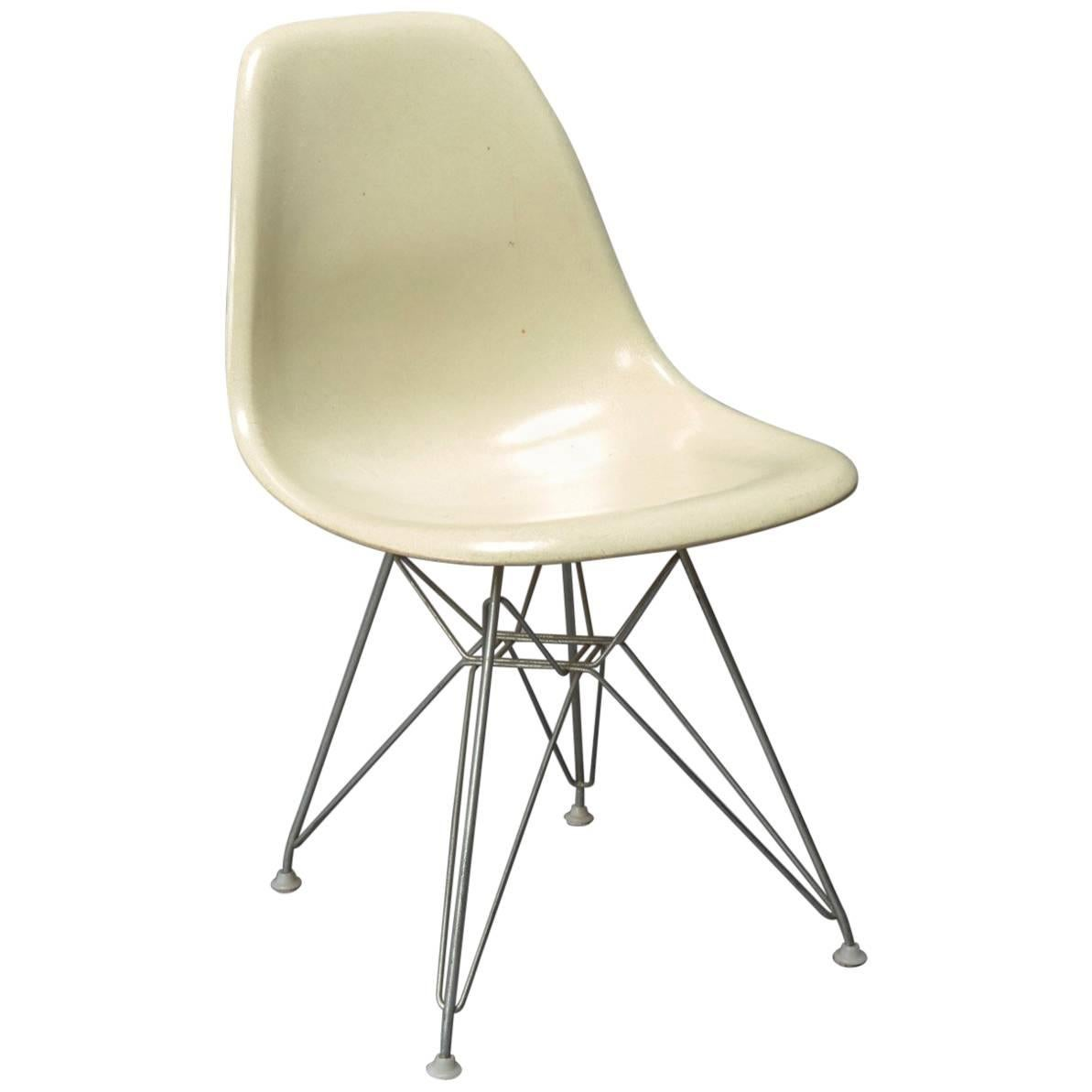 Eames Eiffel Charles Eames Fiberglass Shell Chair For Herman Miller With Original Eiffel Base