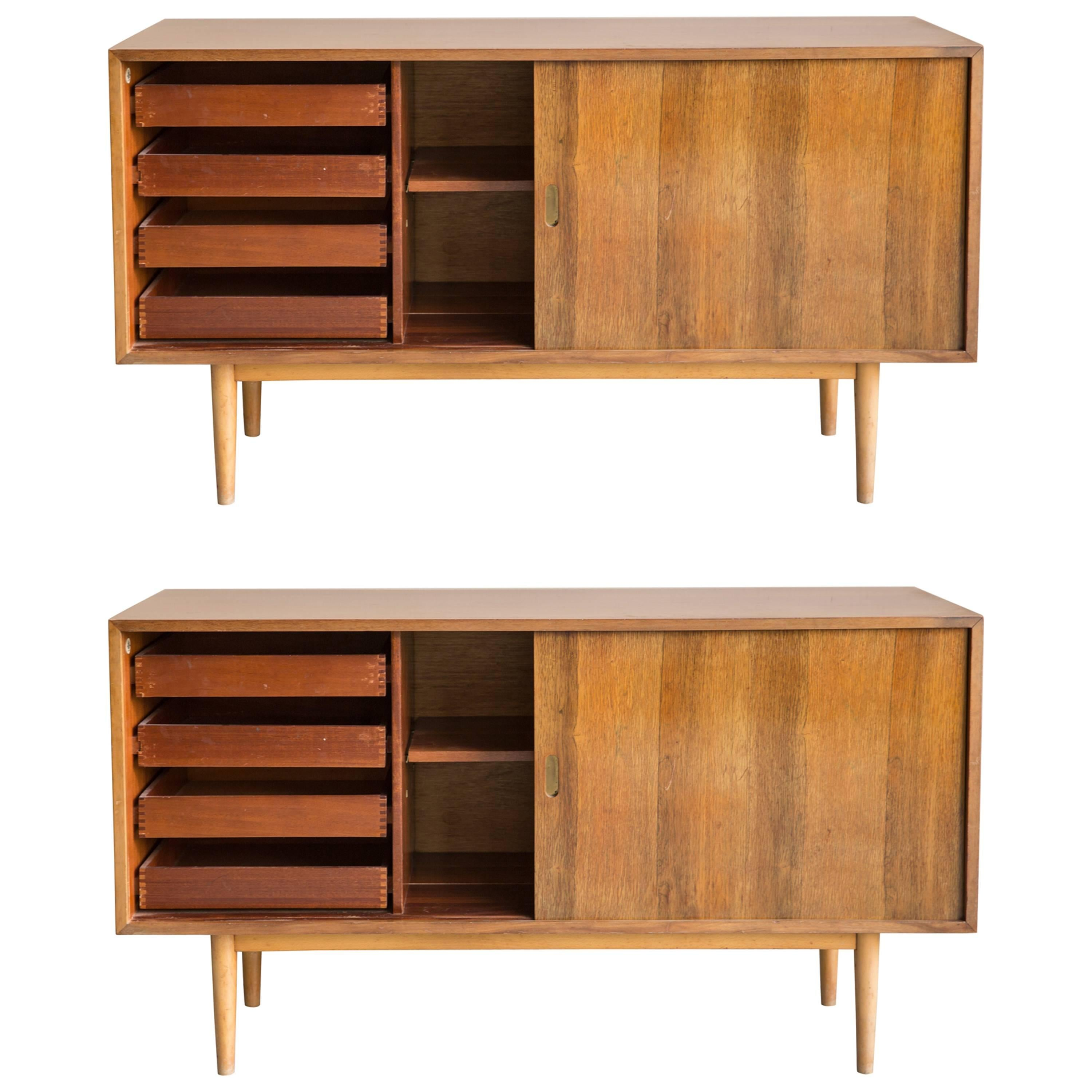 Designer Sideboards Pair Of Unit L Interplan Sideboards Designed By Robin Day For Hille Circa 1954