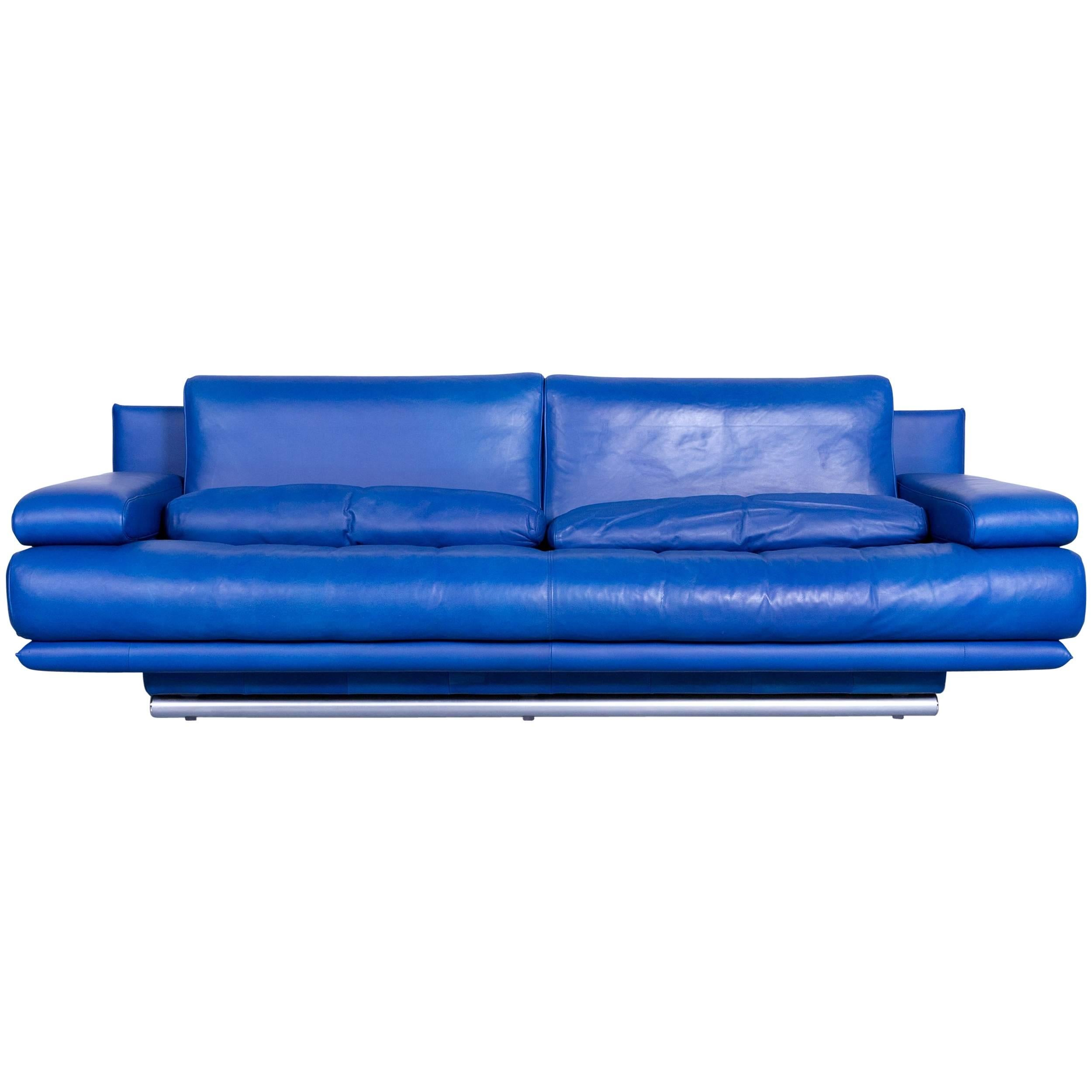 Design Sofa Rolf Benz Rolf Benz 6500 Designer Sofa Blue Three-seat Modern At 1stdibs