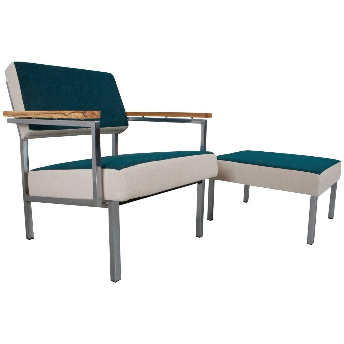 Hocker Modern Mid Century Modern And Industrial Lounge Set With Hocker 1960s