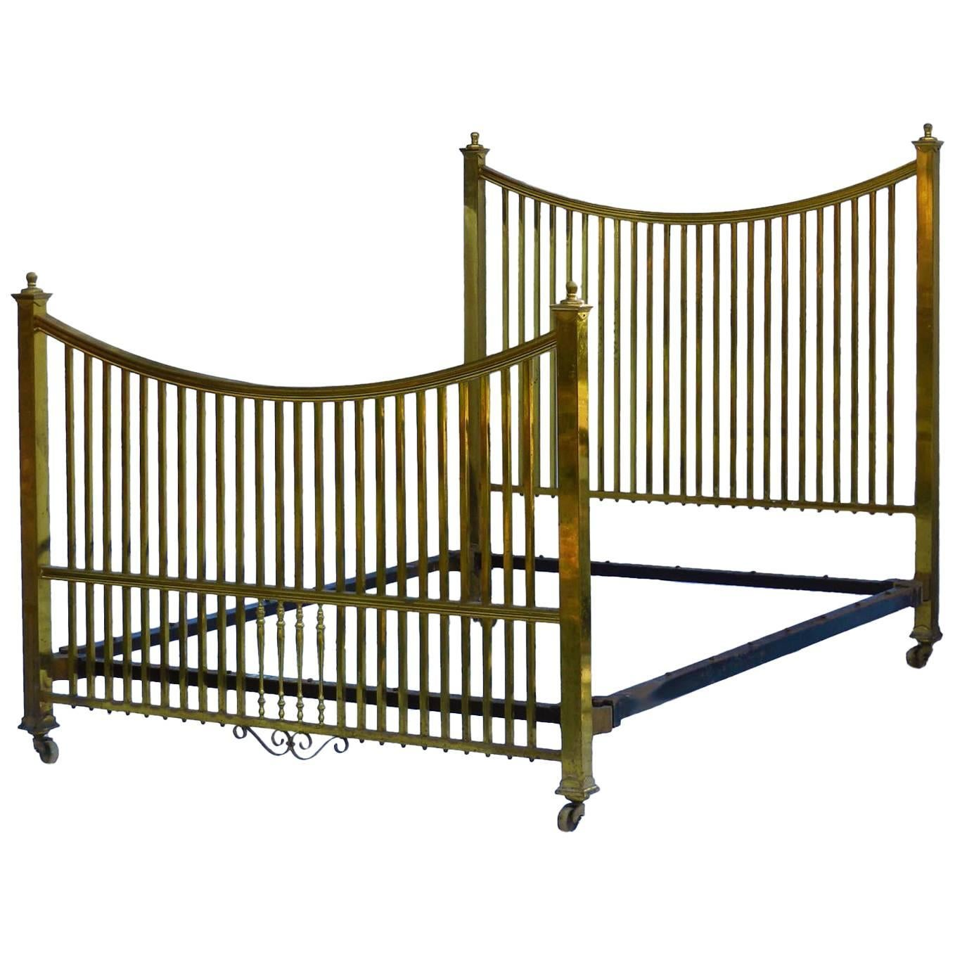 How Big Is A Queen Size Bed Uk Antique Brass Bed Maple Co Us Queen Uk King Size English Circa 1900