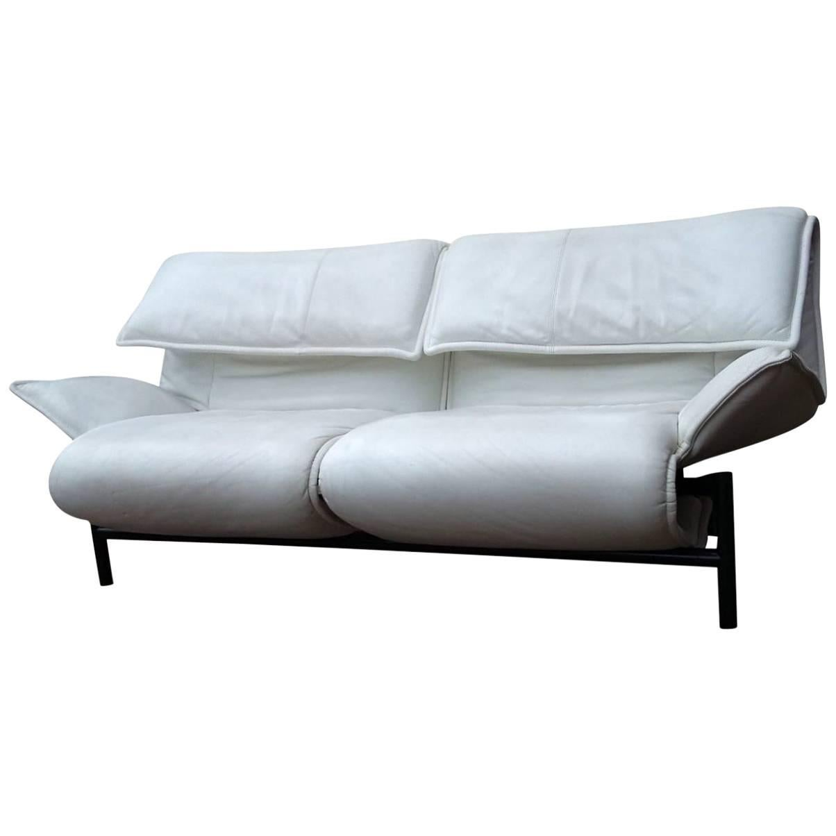 White Leather Couch White Leather Sofa By Vico Magistretti For Cassina Model Veranda 1980s