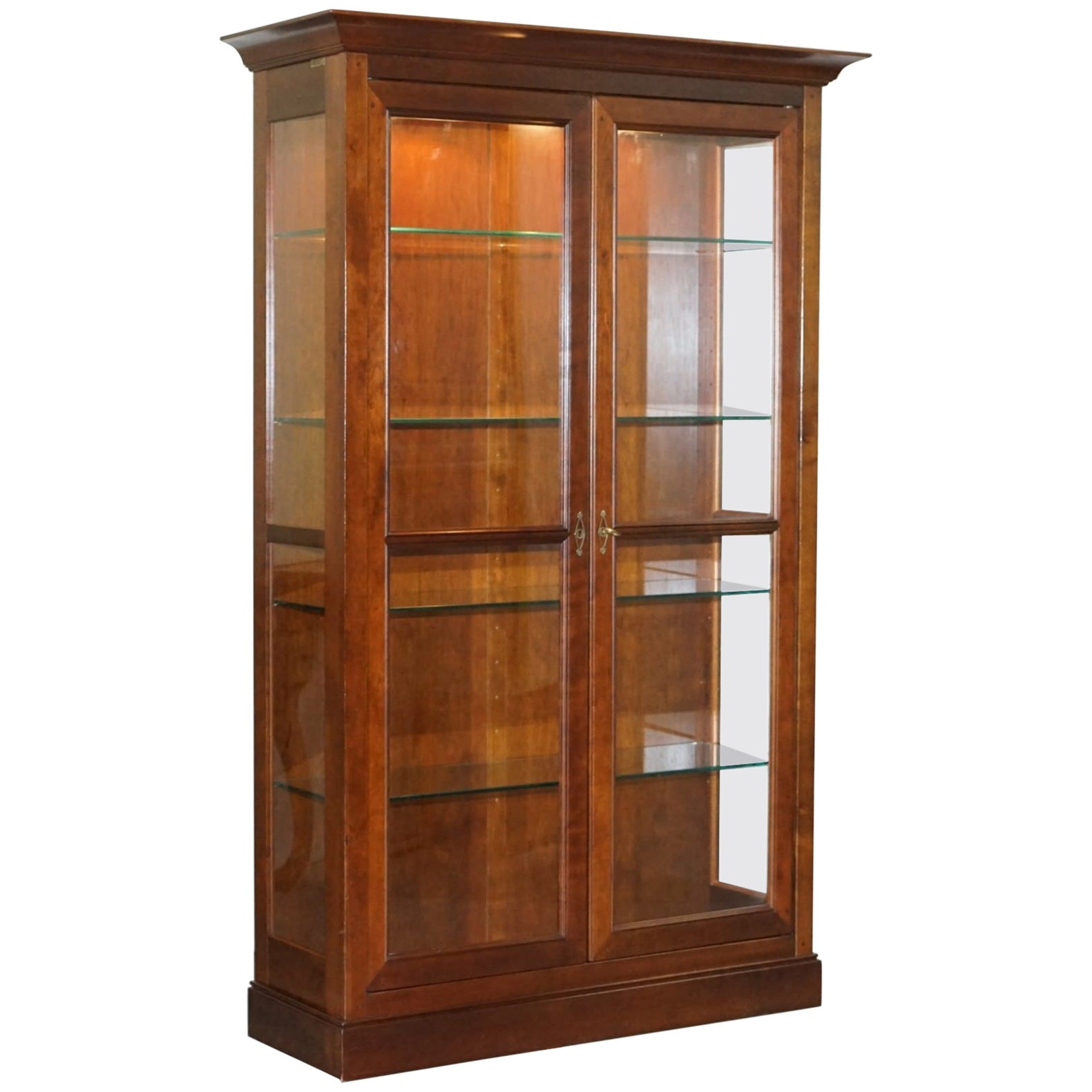 Meubles Grange France Stunning Grange Solid Cherry Wood Glass Display Cabinet With Lights Bookcase