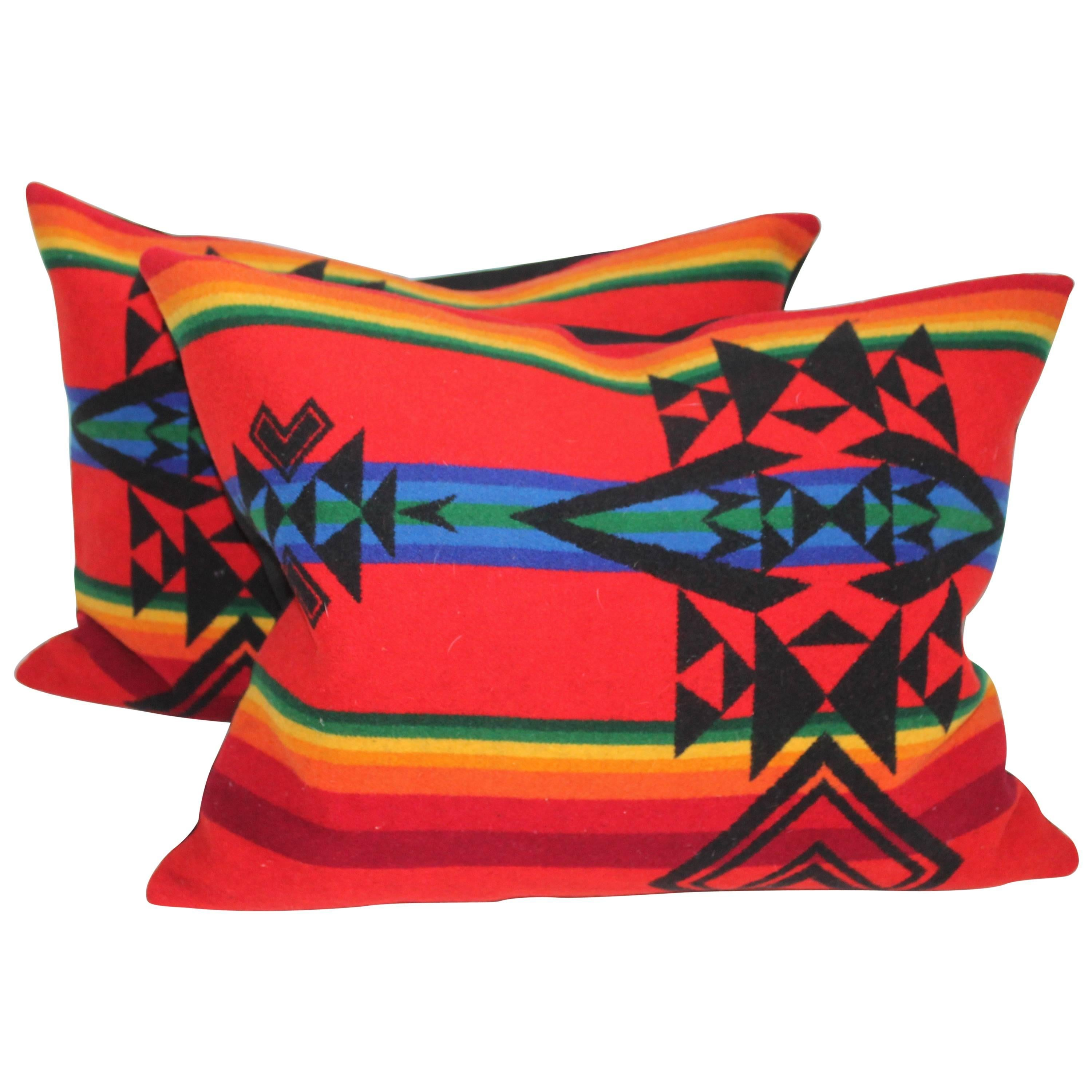 Camp Blankets Pendelton Indian Design Camp Blanket Pillows Pair