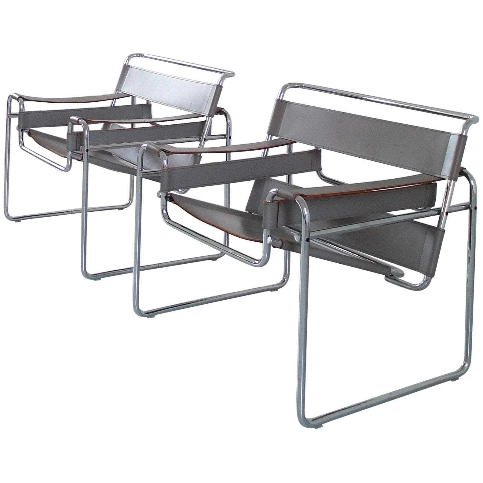 Sedia Diamond Knoll Marcel Breuer Wassily Chairs For Knoll Circa 1980