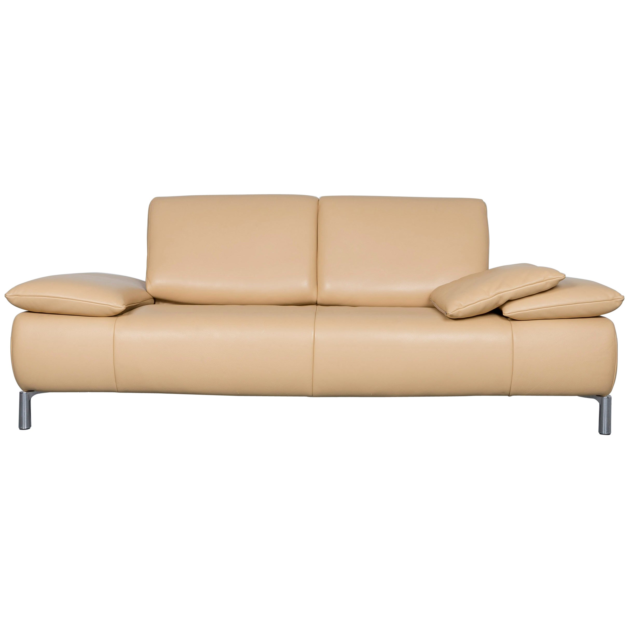 Koinor Goya Designer Leather Sofa Creme Beige Three Seat Couch For Sale At 1stdibs