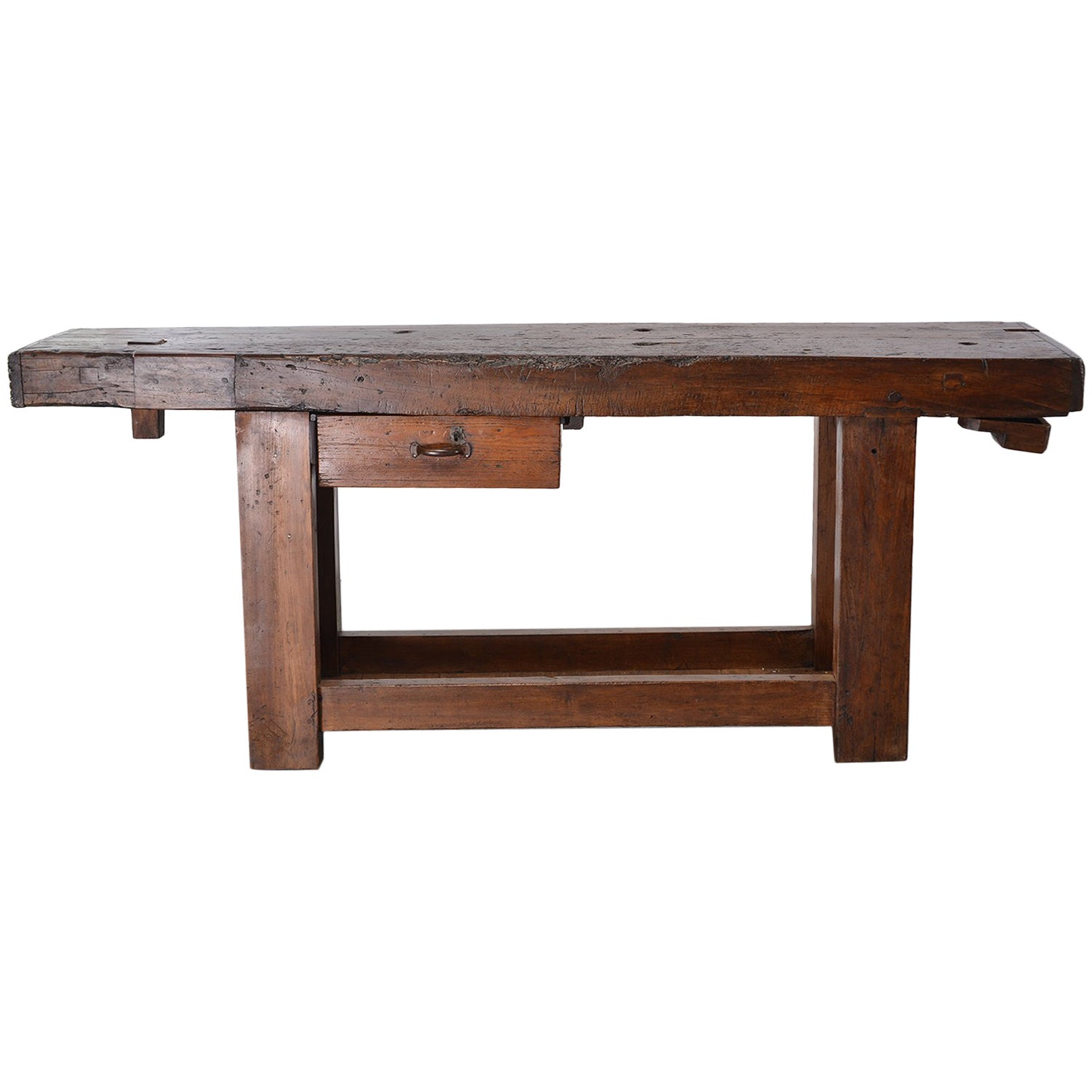 Wooden Bench Table French 19th Century Work Bench Table