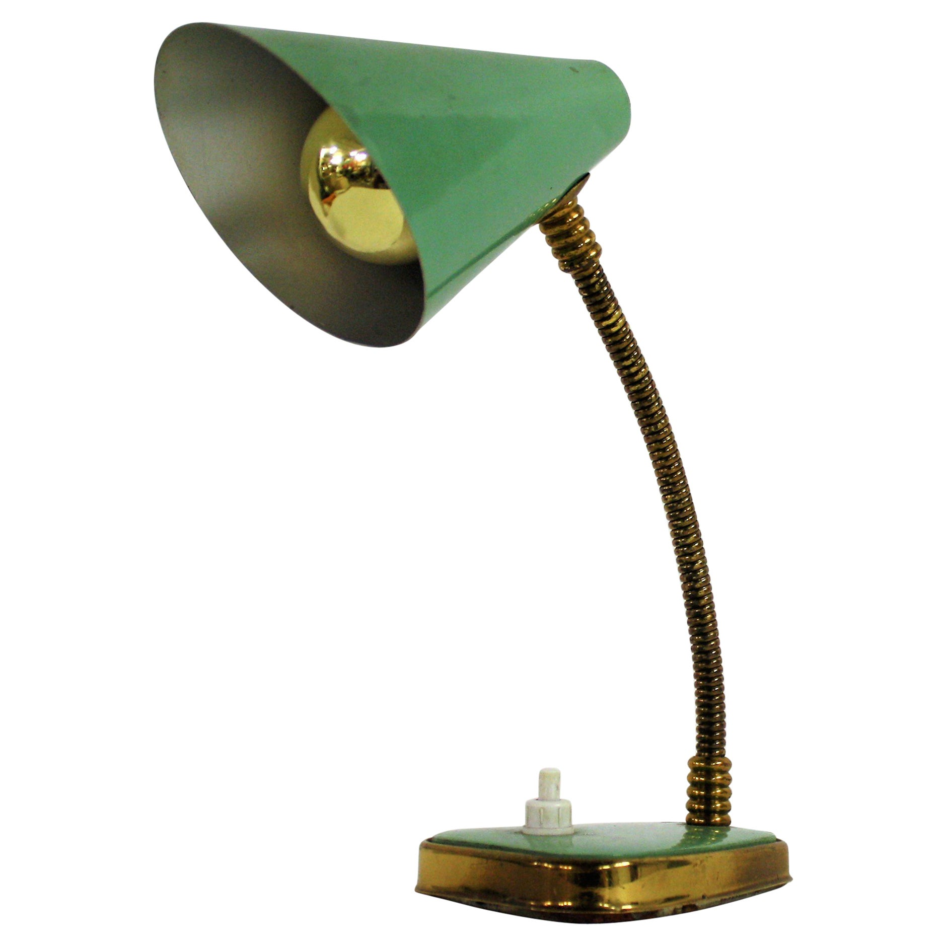 Desk Lamp Small Green Vintage Desk Lamp Made In Italy 1950s