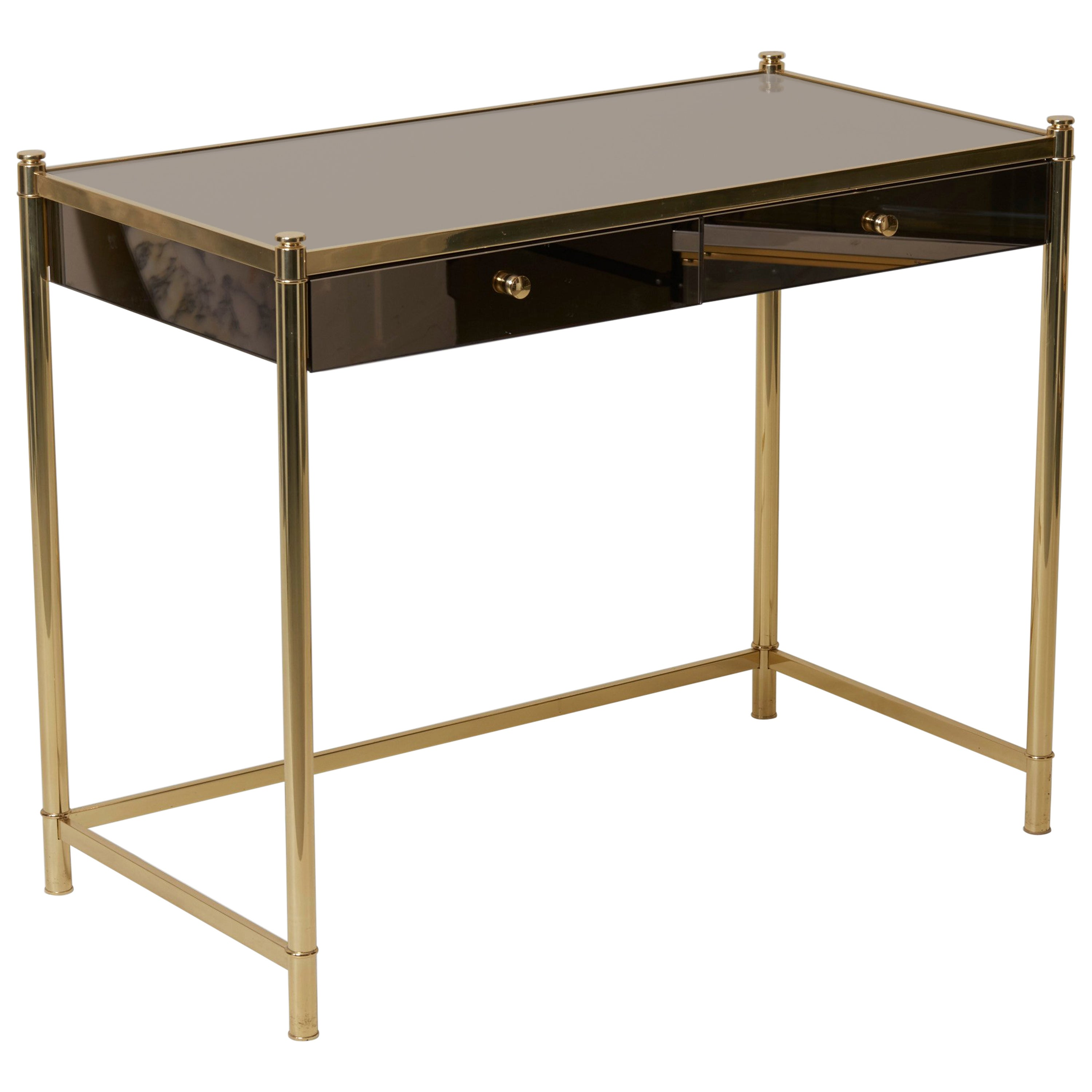 Dressing Maison Beautiful Brass And Mirror Dressing Or Vanity Table In The Maison Jansen Manner