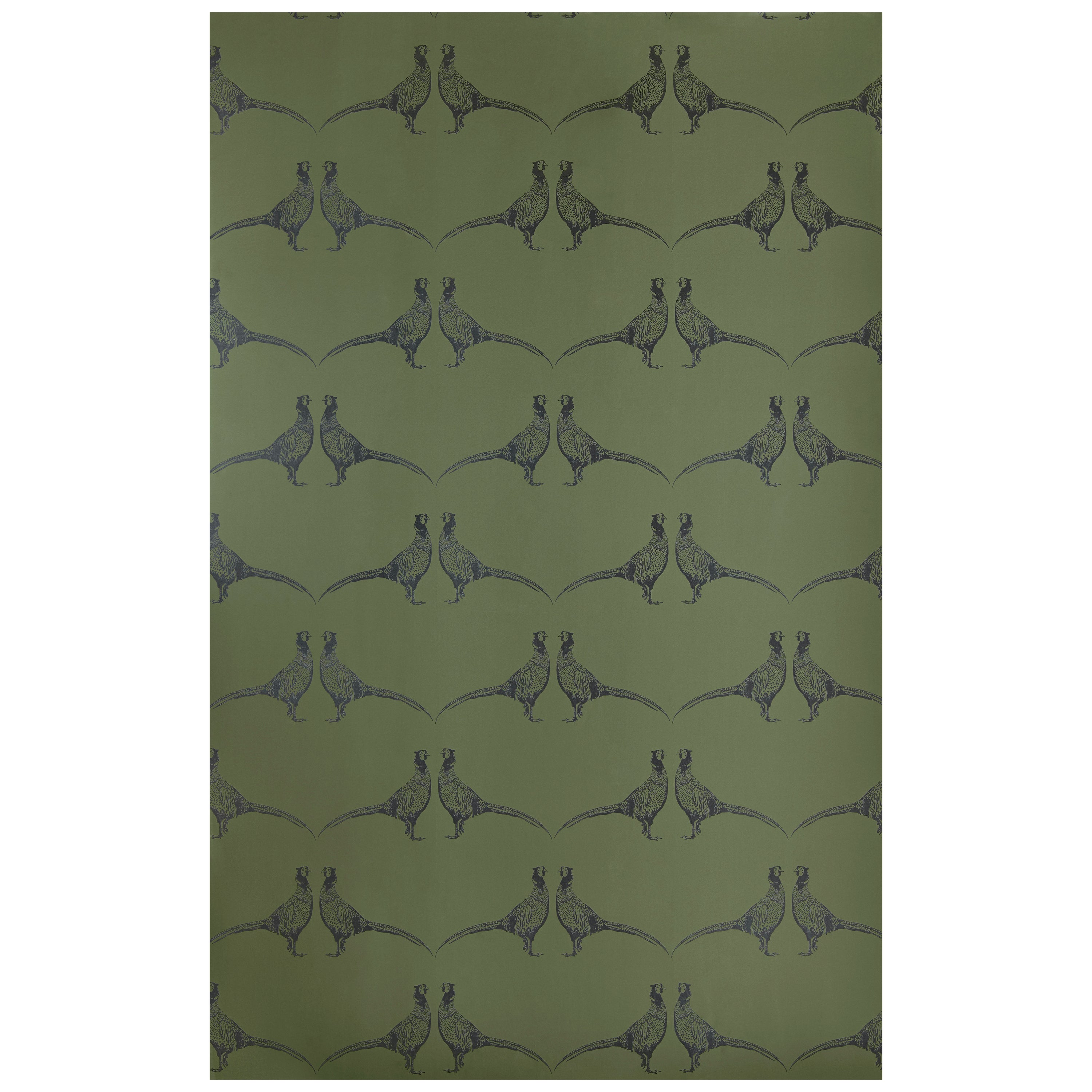 Tapete Apfelgrün Pheasant Contemporary Traditional Wallpaper In Camo Green