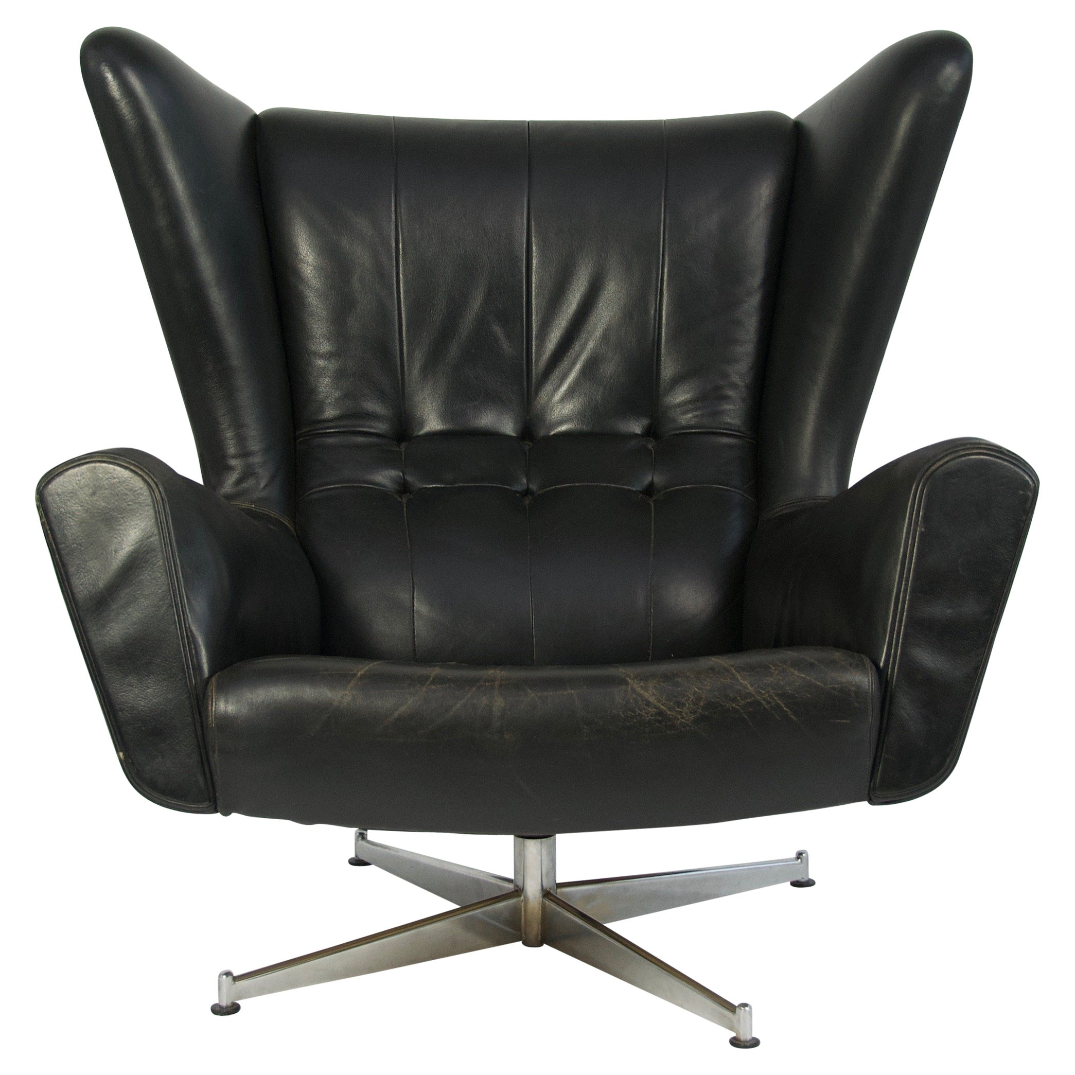 Leather Lounge Sven Skipper Leather Lounge Chair And Ottoman