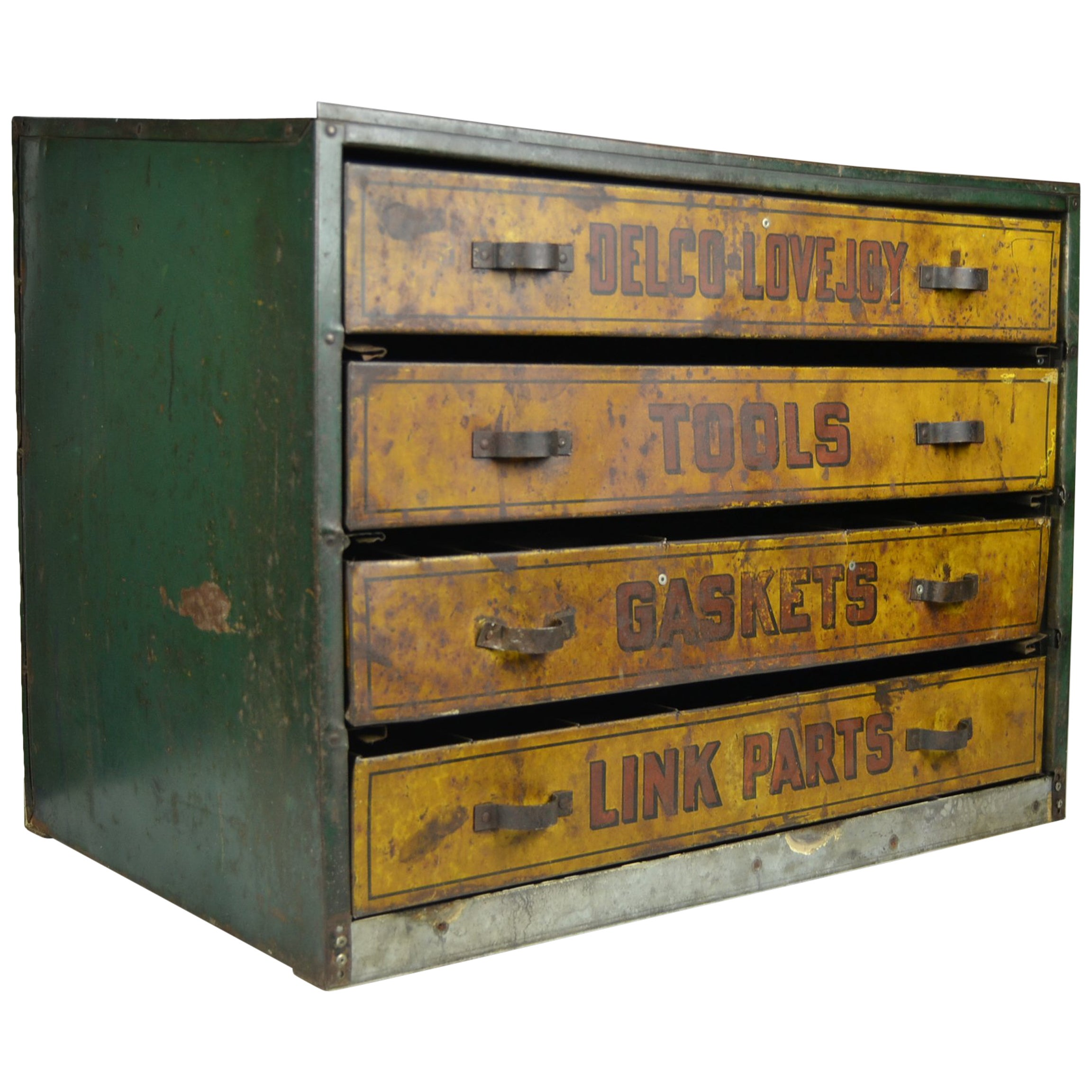 Cabinet Drawers 1930s Metal Garage Toolbox Cabinet With 4 Drawers