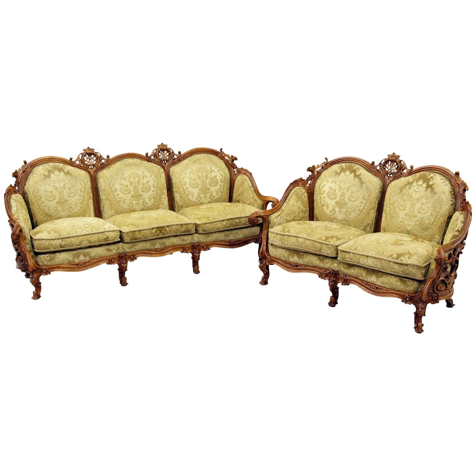 Sofa Couch Or Chesterfield Chippendale Chesterfield Sofa Couch Armchair Baroque Antique Set