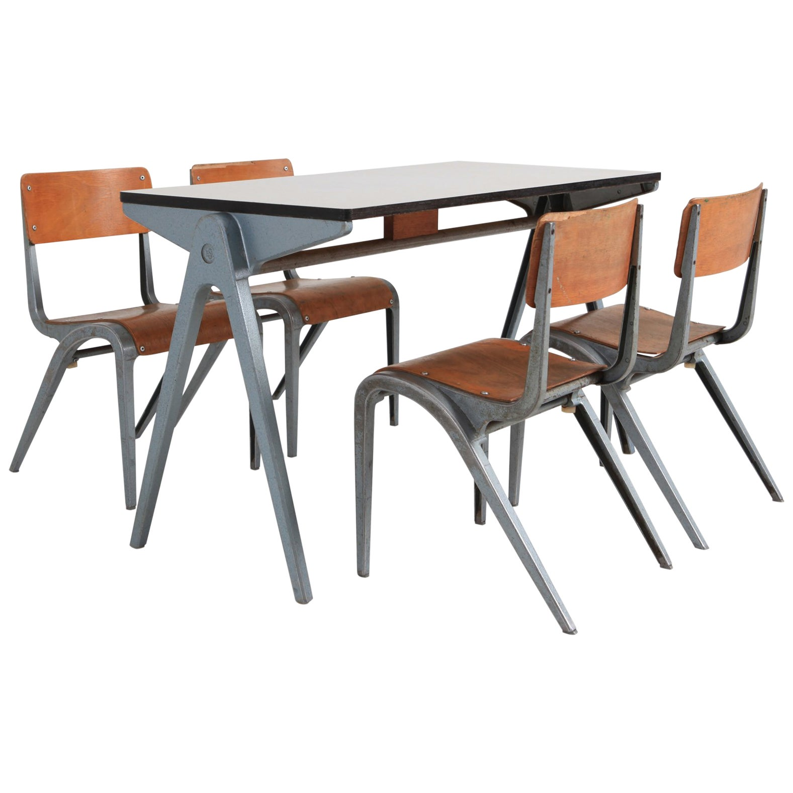 Modern Table And Chairs Industrial Writing Desk Table With Chairs For Kids By James Leonard For Esavian