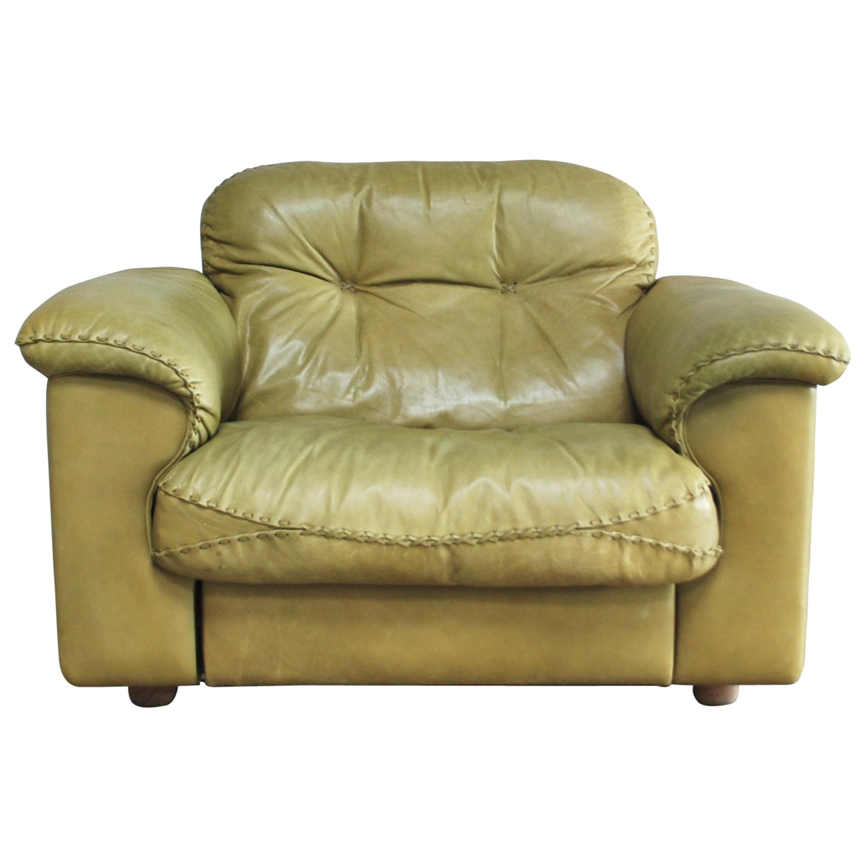 Leather Lounge De Sede James Bond Leather Lounge Chair Ds 101 Olive Green