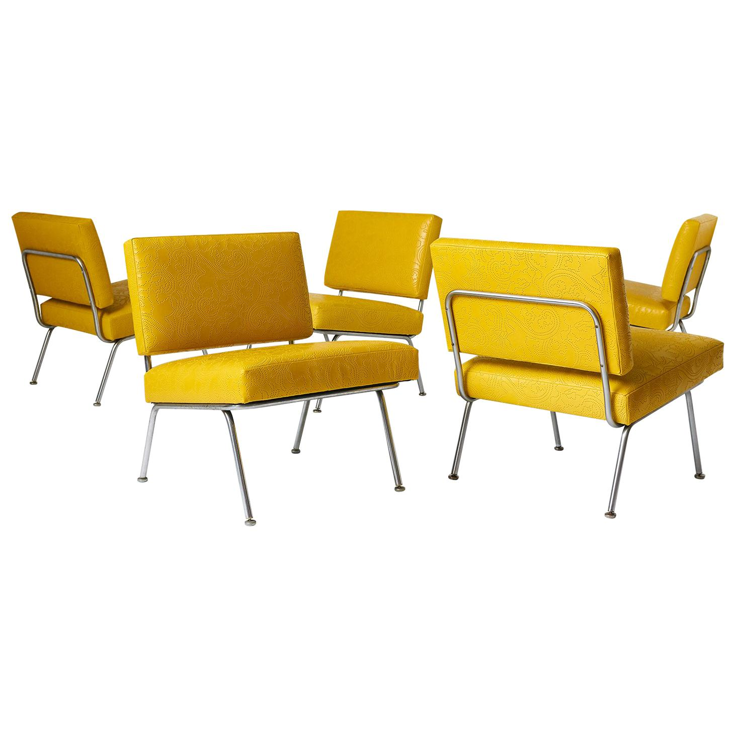 Knoll International Set Of Five Florence Knoll Chairs Model 31 For Knoll International