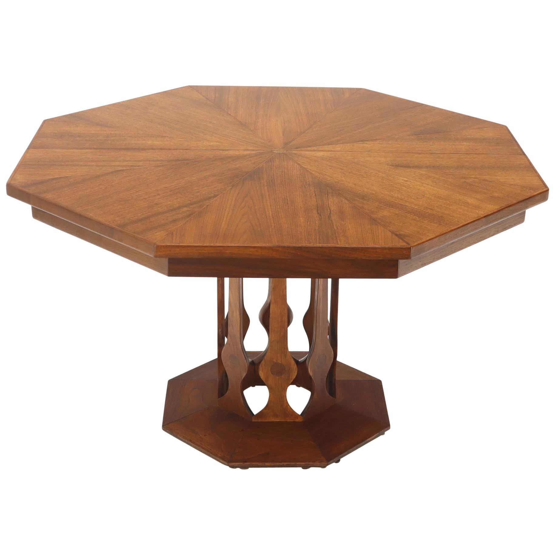 Round Dining Table With Extensions Oiled Walnut Octagonal Round Dining Table With Two Extension Leafs Probber Style