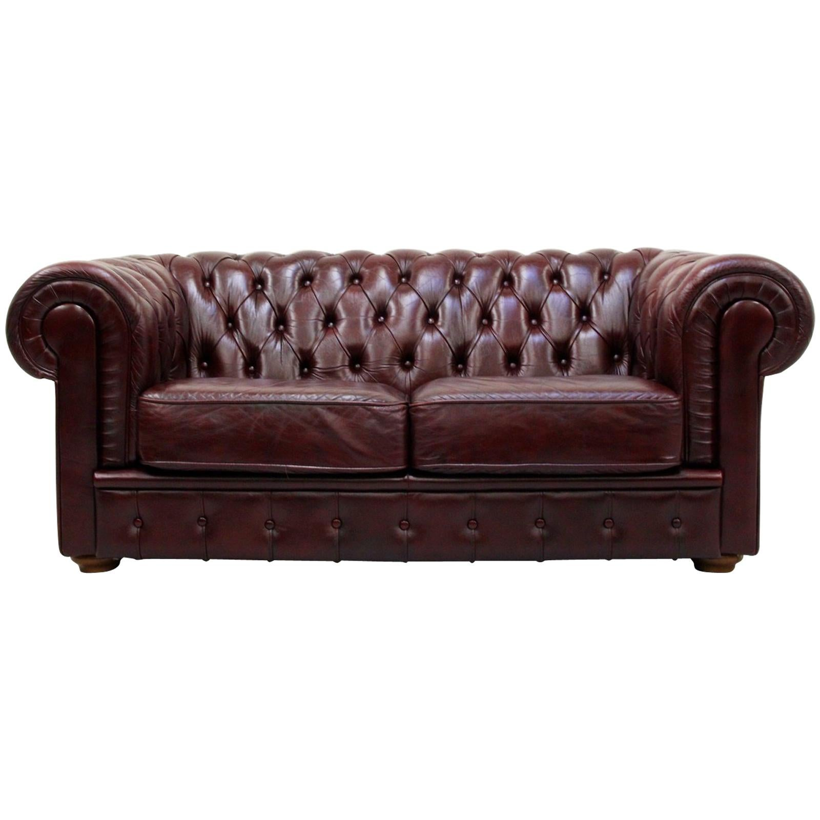 Vintage Couch Chesterfield English Sofa Leather Antique Vintage Couch Chippendale