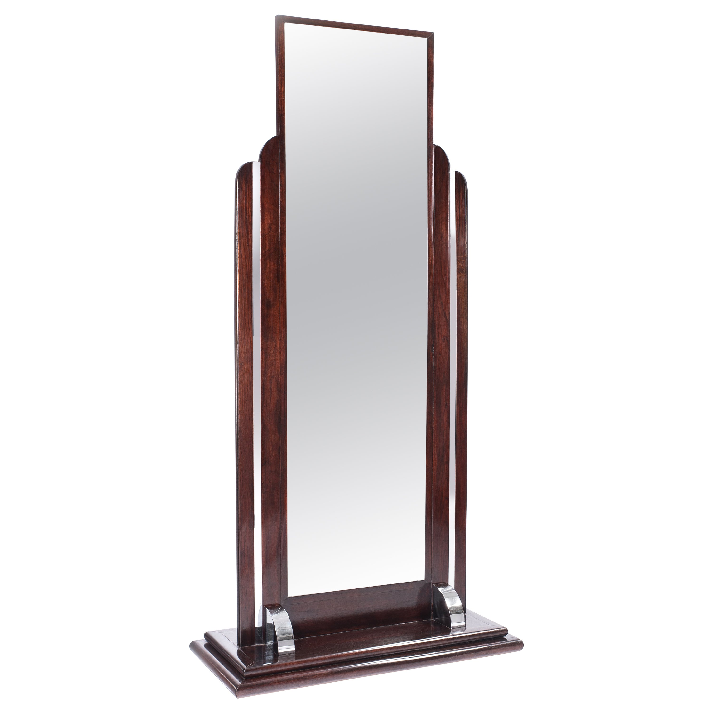 Standing Mirror Art Deco Standing Mirror From France 1930s