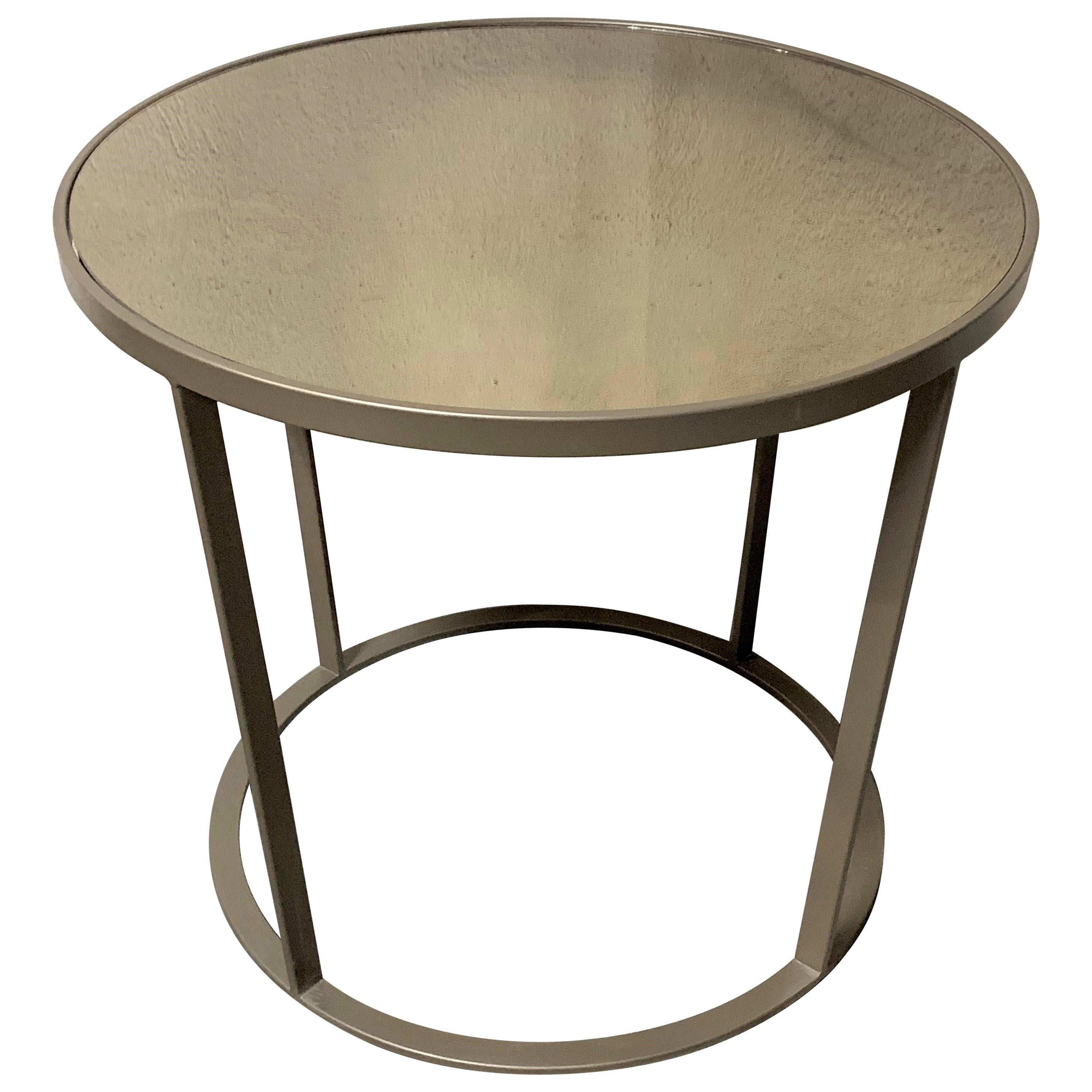 Coffee And Side Tables New Coffee Or Side Table In Champagne Color With Smoked Mirrored Glass Top