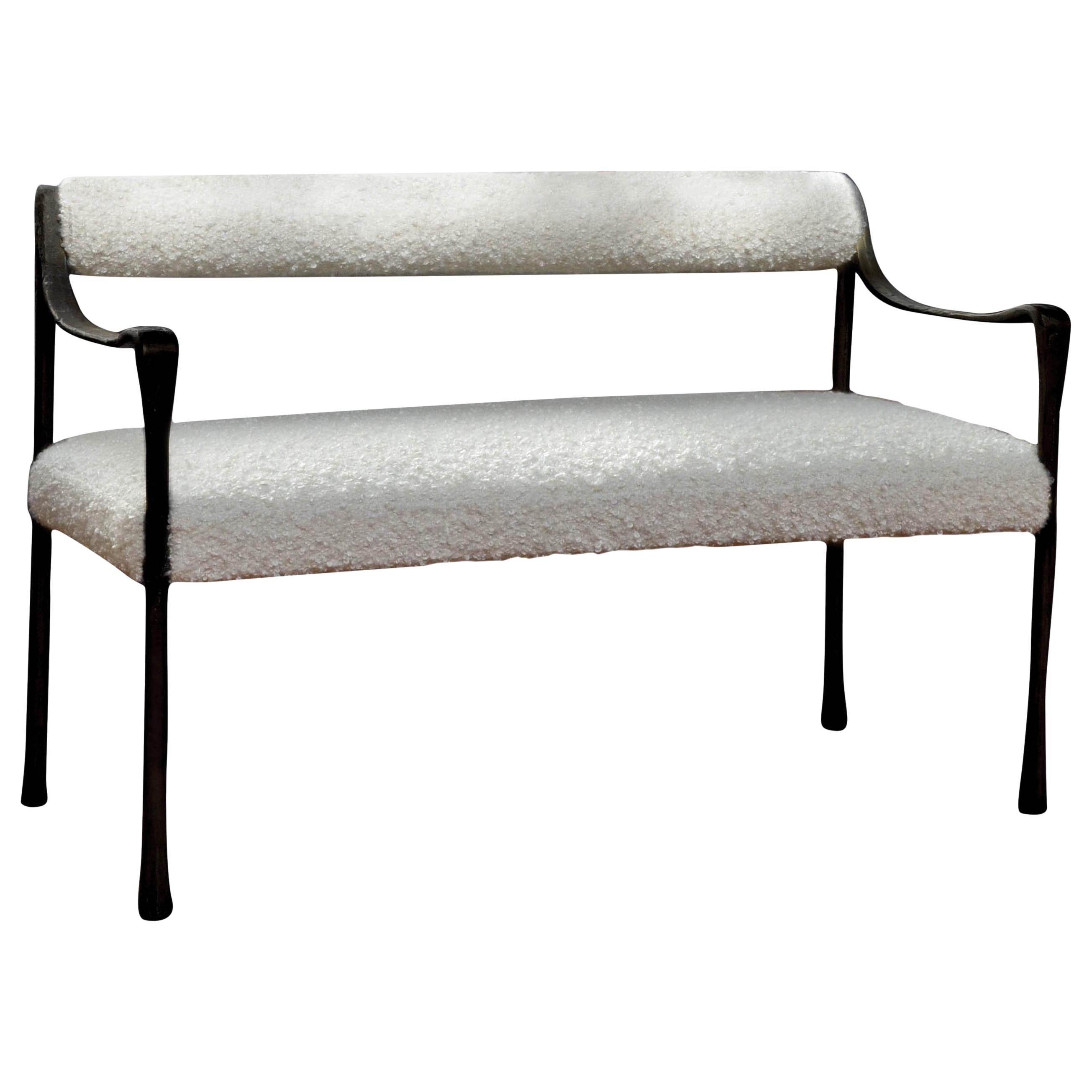Contemporary Seating Giac Settee With Aluminum Hand Patinated Frame Contemporary Seating Col Com