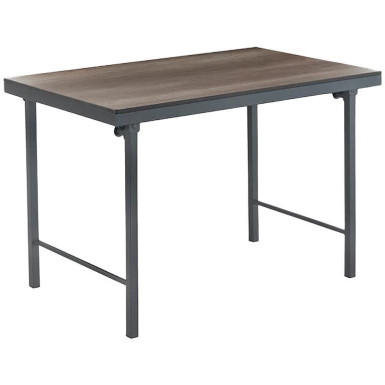 Structure Table New Folding Table With Wood Top And Iron Structure