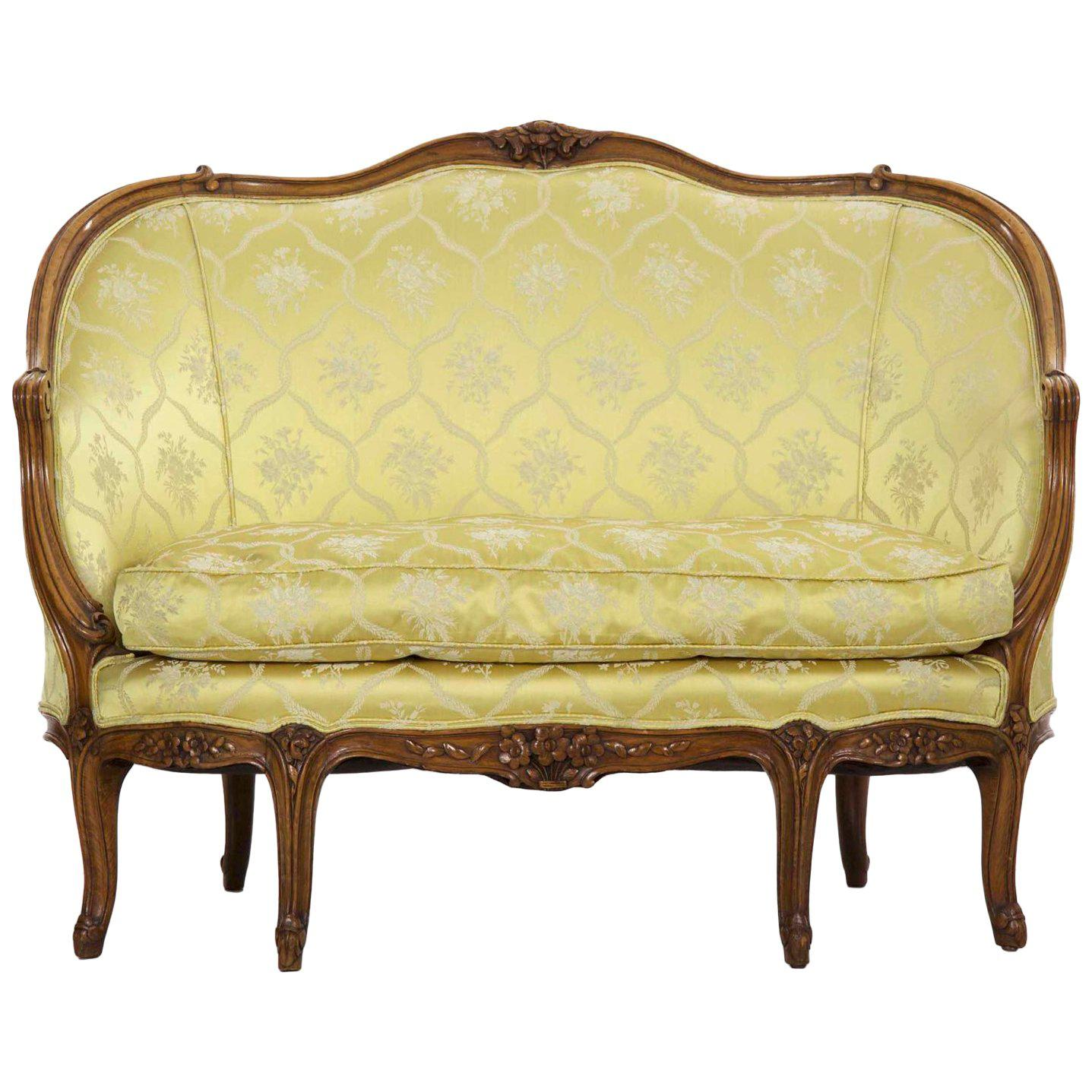 Canape Sofa 19th Century French Louis Xv Style Antique Canapé Sofa Settee