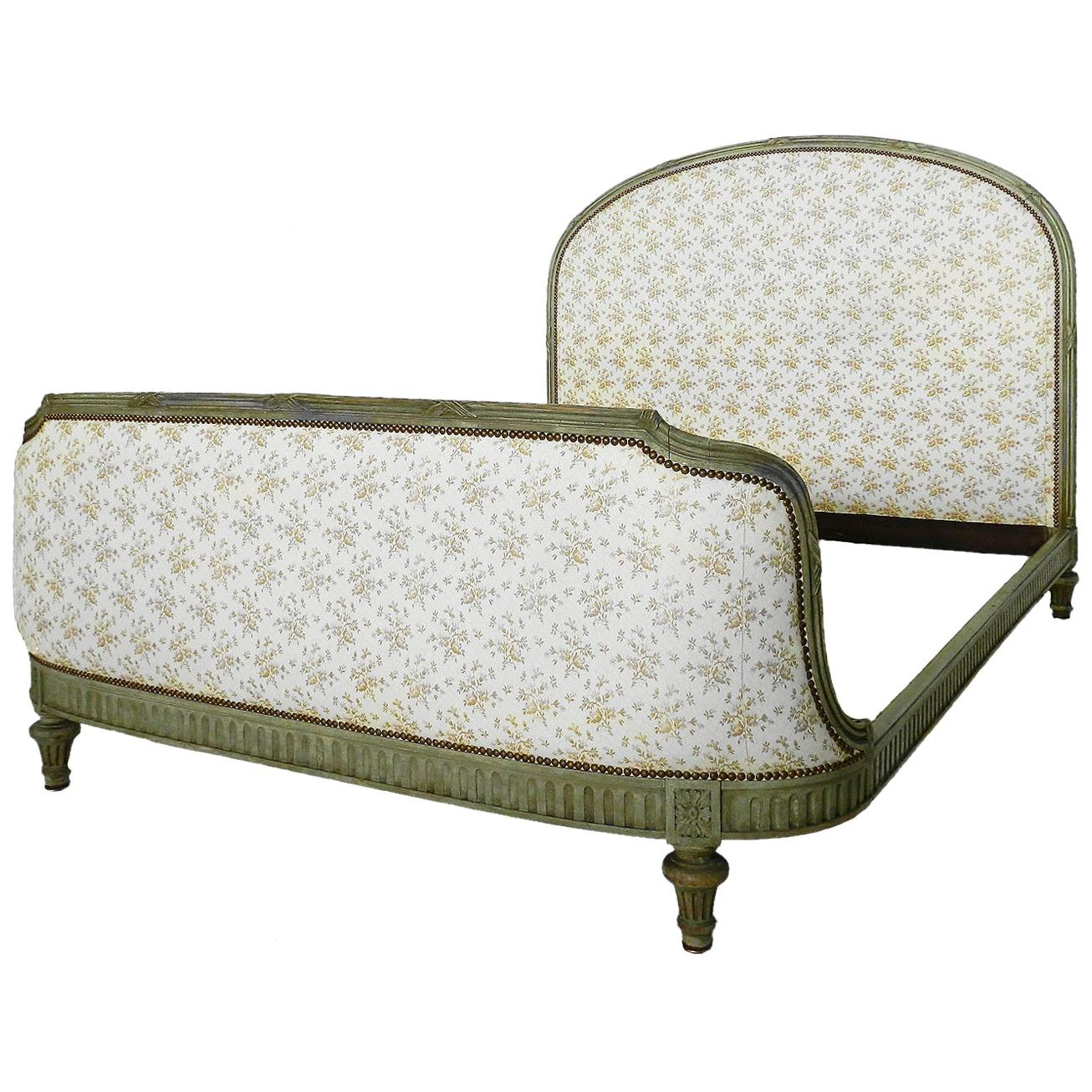 How Big Is A Queen Size Bed Uk Antique French Bed Us Queen Uk King Size Includes Recovering Louis Xvi Rev C1910