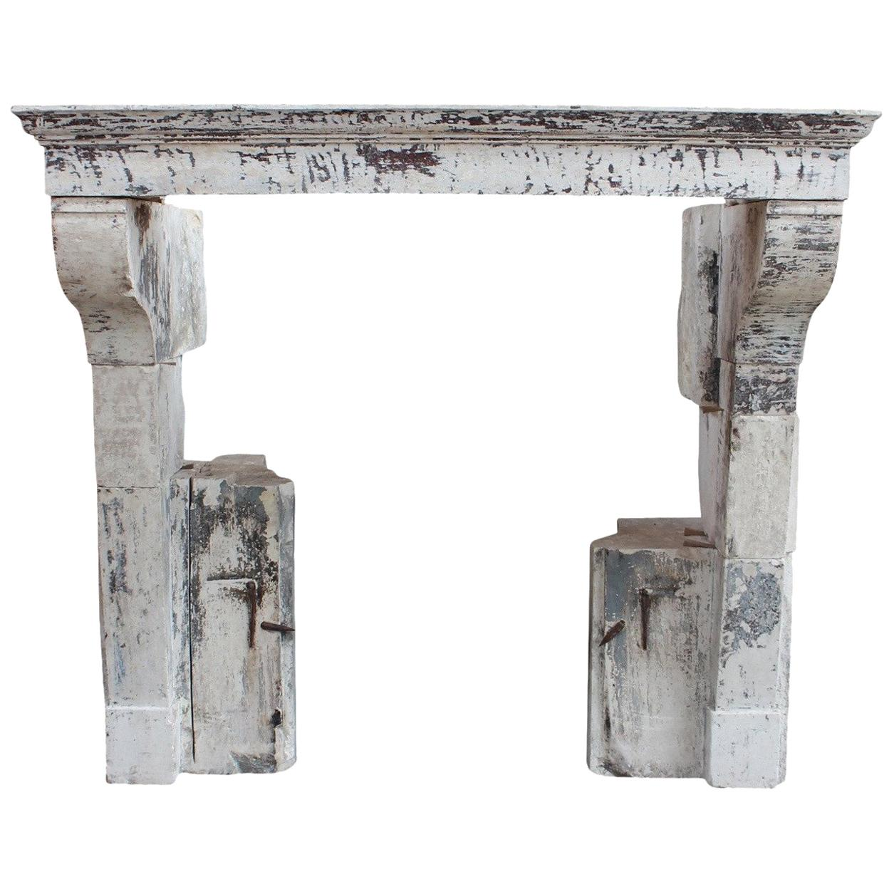 French Country Fireplace French Country Limestone Antique Fireplace Mantle With Original Patina