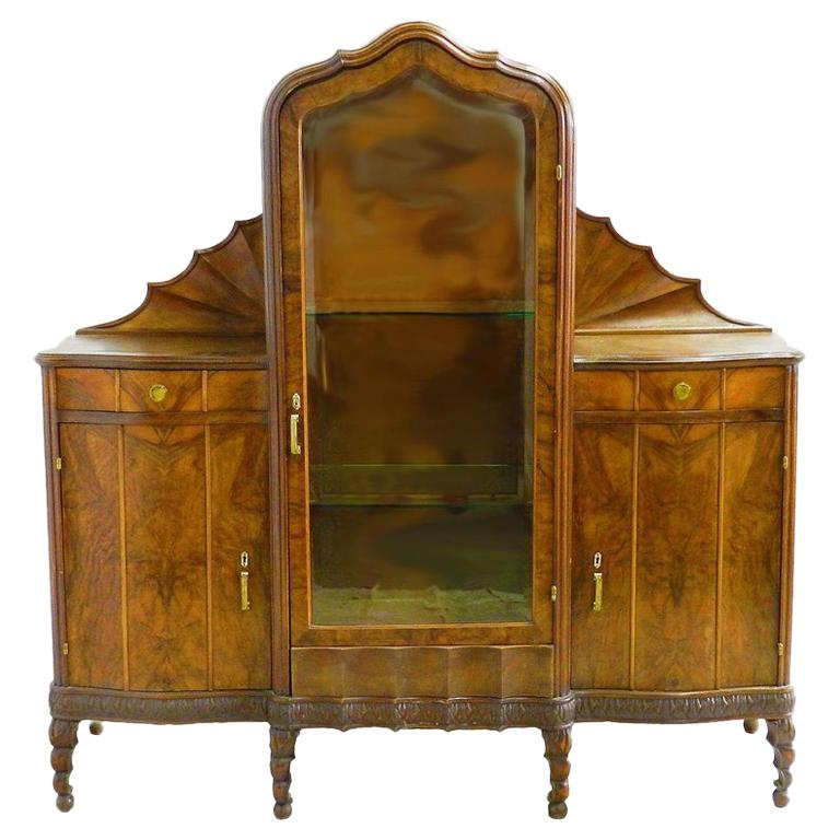 Sideboard Vitrine Vitrine Cabinet Art Nouveau Art Deco Sideboard Rare Find Hollywood Italian