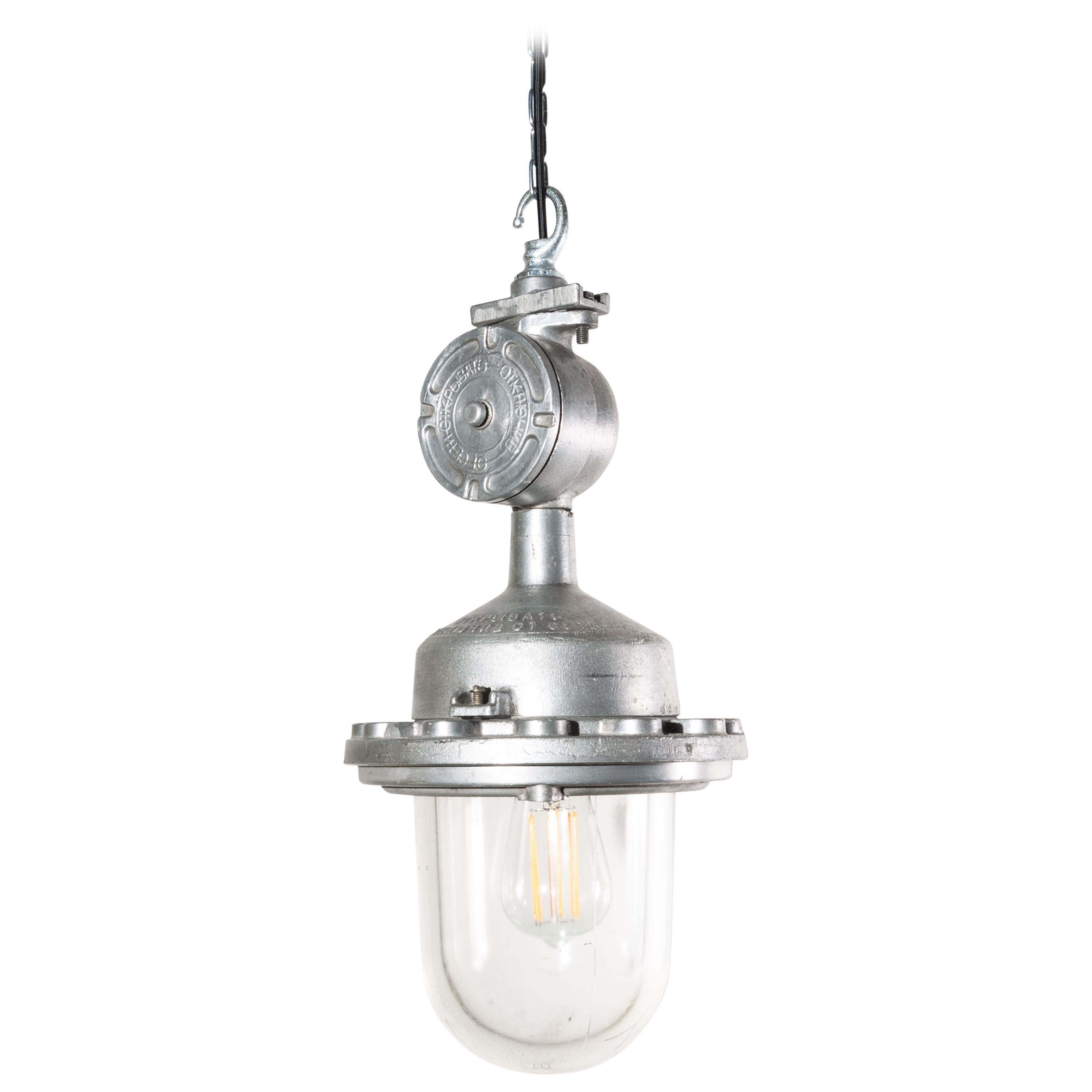 Ceiling Pendant Lights 1960s Industrial Explosion Proof Ceiling Pendant Lamps Lights With Glass Dome