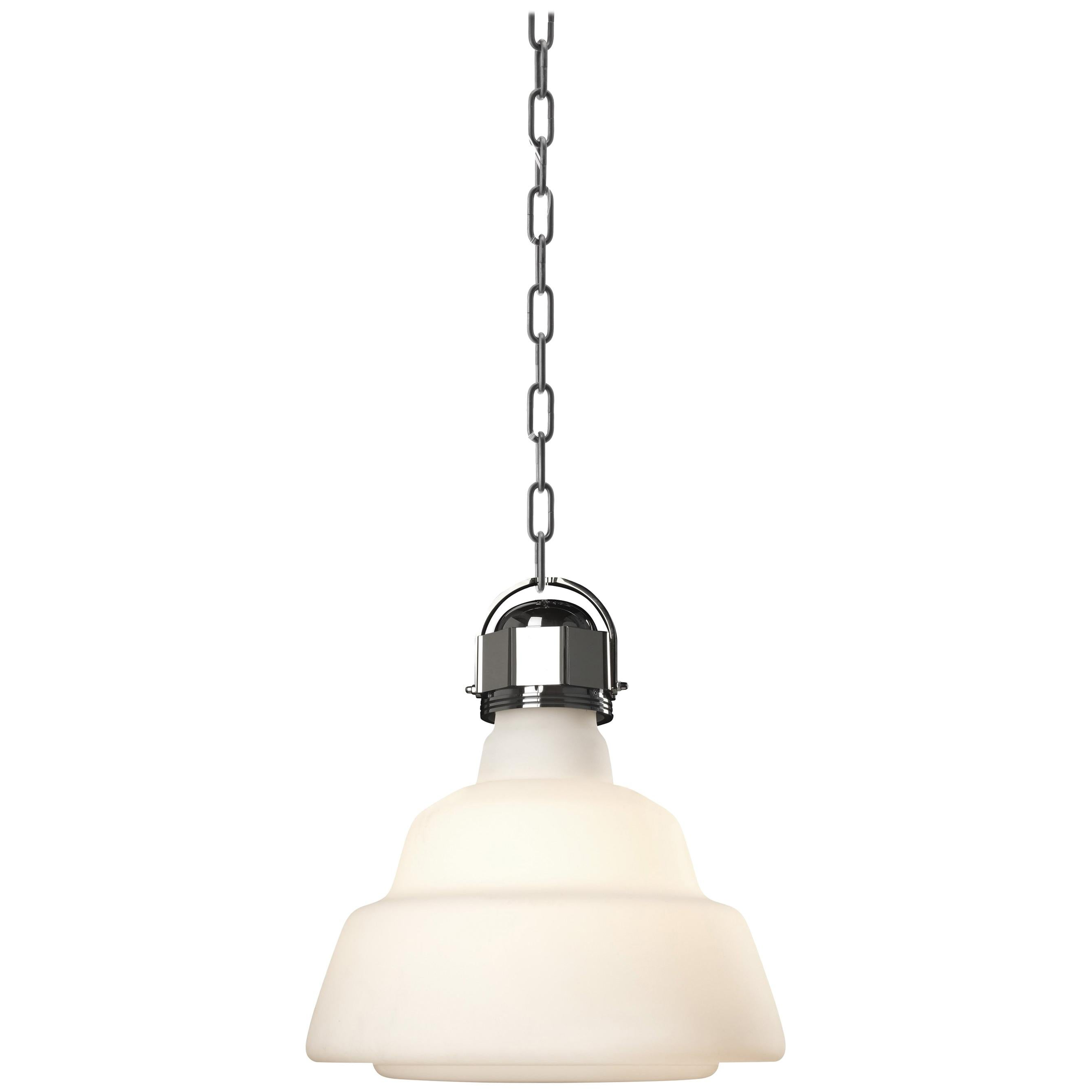 Foscarini Lights Foscarini Large Glas Suspension Lamp In White By Diesel