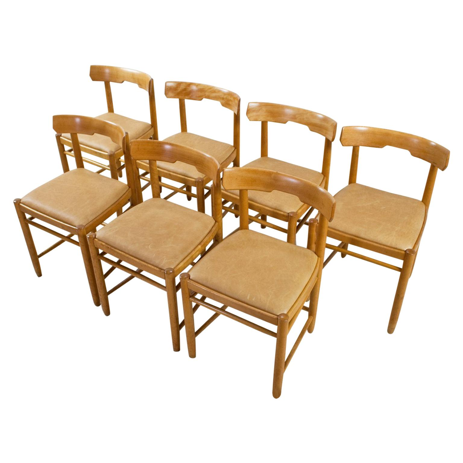 Sedia 1 Mari Handcrafted Set Of Four Pinewood Chairs In Enzo Mari Manner Sedia 1 1974 Project