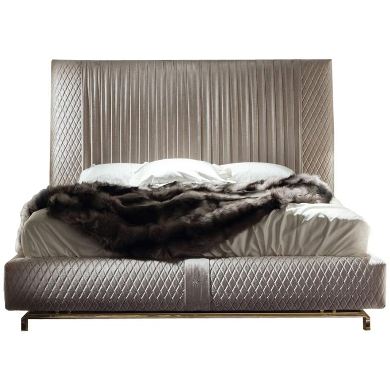 Velvet Upholstered Bed Giorgio Collection Upholstered King Size Bed Pleated Quilted Velvet Headboard