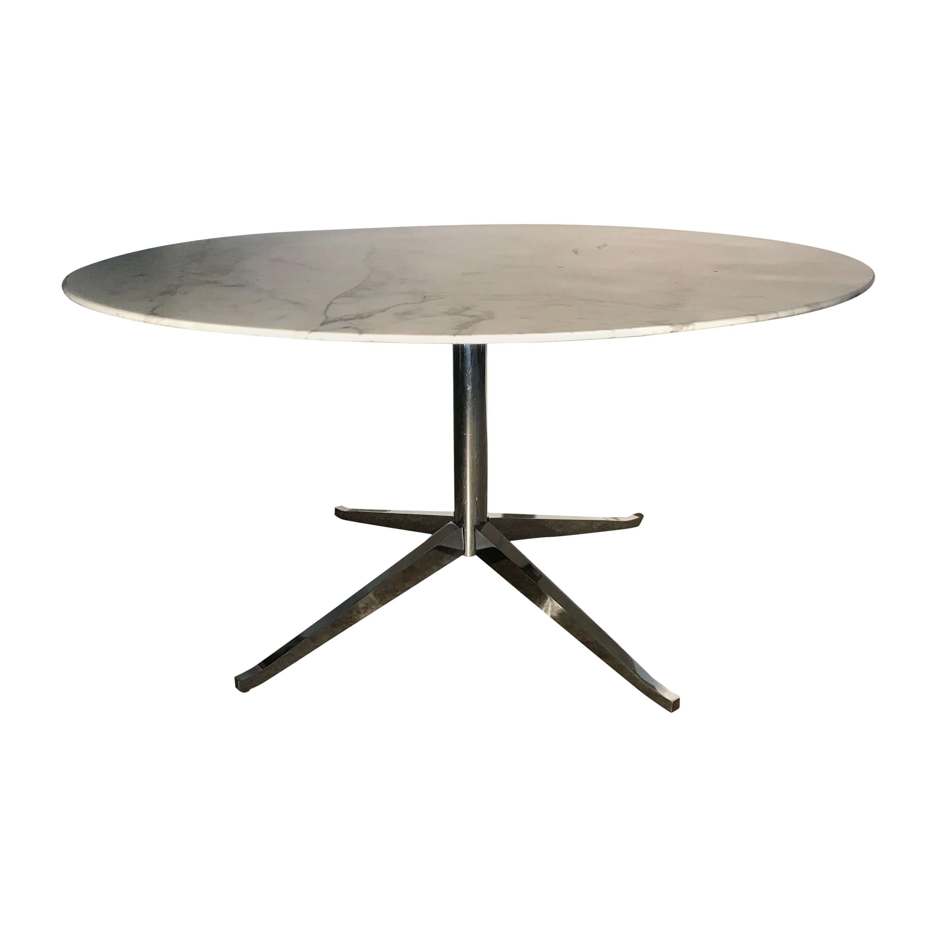 Knoll Table Classic Modernist Marble Top Dining Table By Florence Knoll For Knoll New York