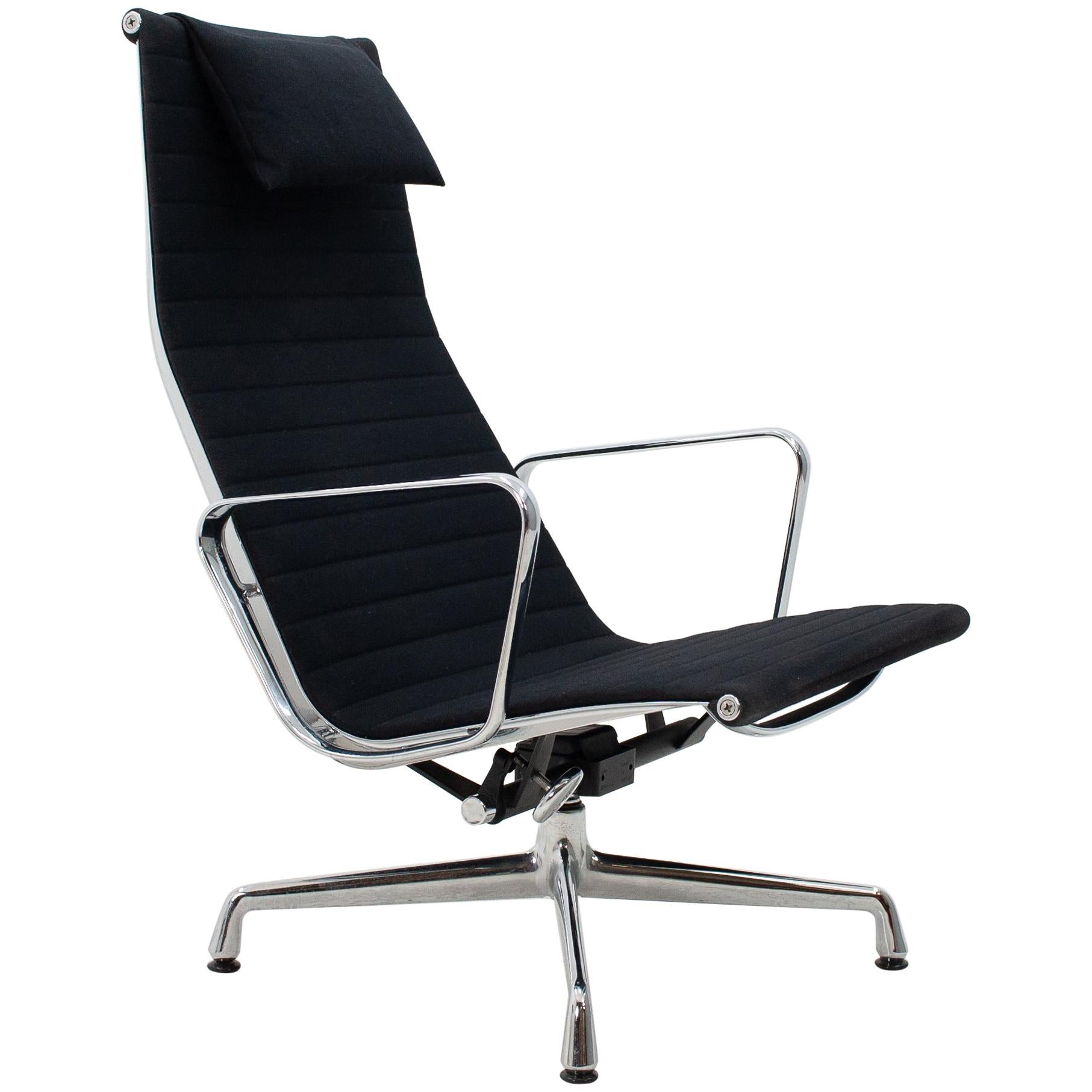 Vitra Eames Lounge Chair Black Vitra Eames Ea116 Rotating Swivel Lounge Chair In Black Fabric