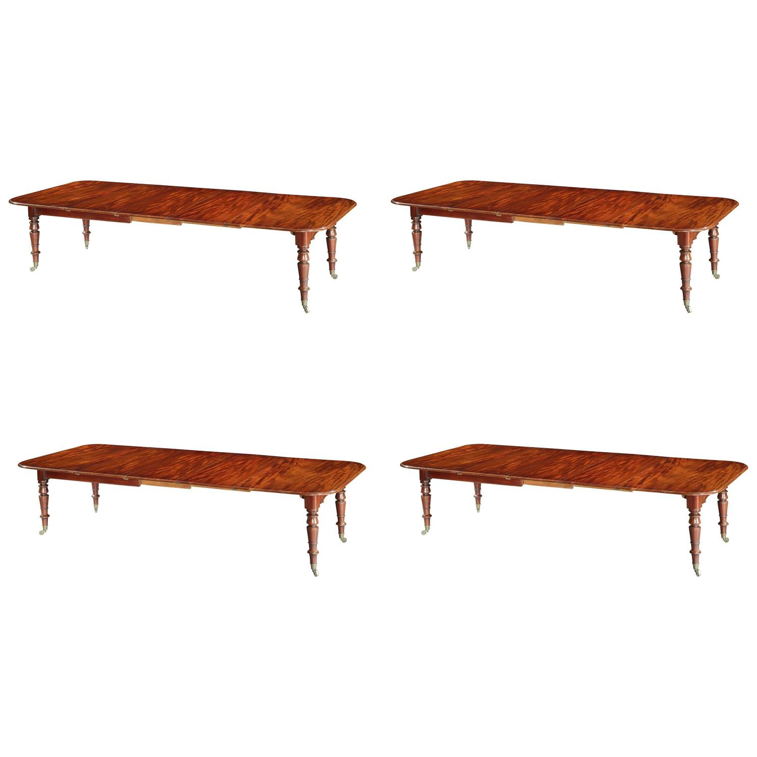 Dining Room Tables That Extend To Seat 12 William Iv Mahogany Telescopic Extending 12 Seat Dining