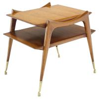 Mid-Century Modern Sculptural Legs Side Table For Sale at ...