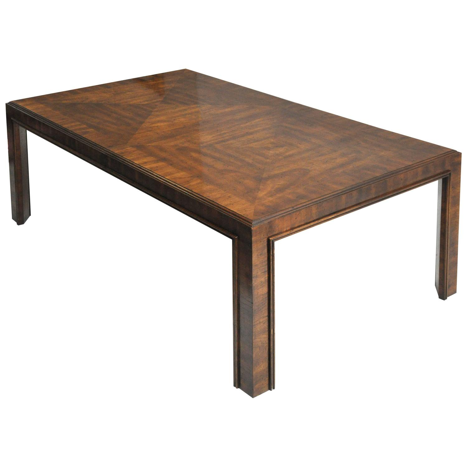 Long Dining Table For Sale Drexel Long Dining Table With Unique Woodgrain Design For