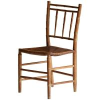 French Faux Bamboo Bistro Chair, circa 1940s at 1stdibs
