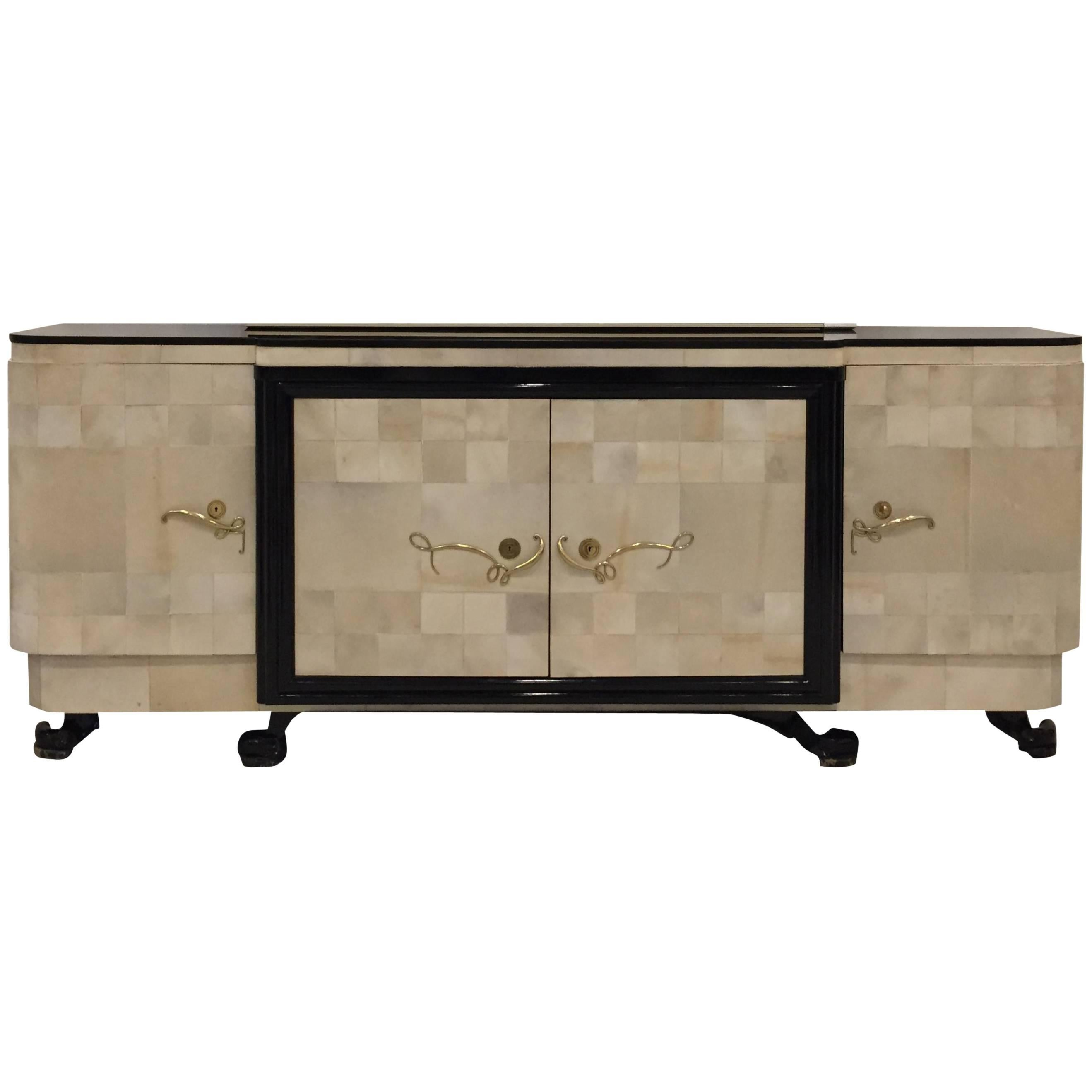 Meuble Tv Arno French Palissandre Buffet On Wood And Chrome Legs By Alain Richard