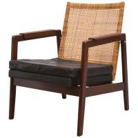 J.P. Muntendam Mid-Century Low Back Rattan Lounge Chair at ...