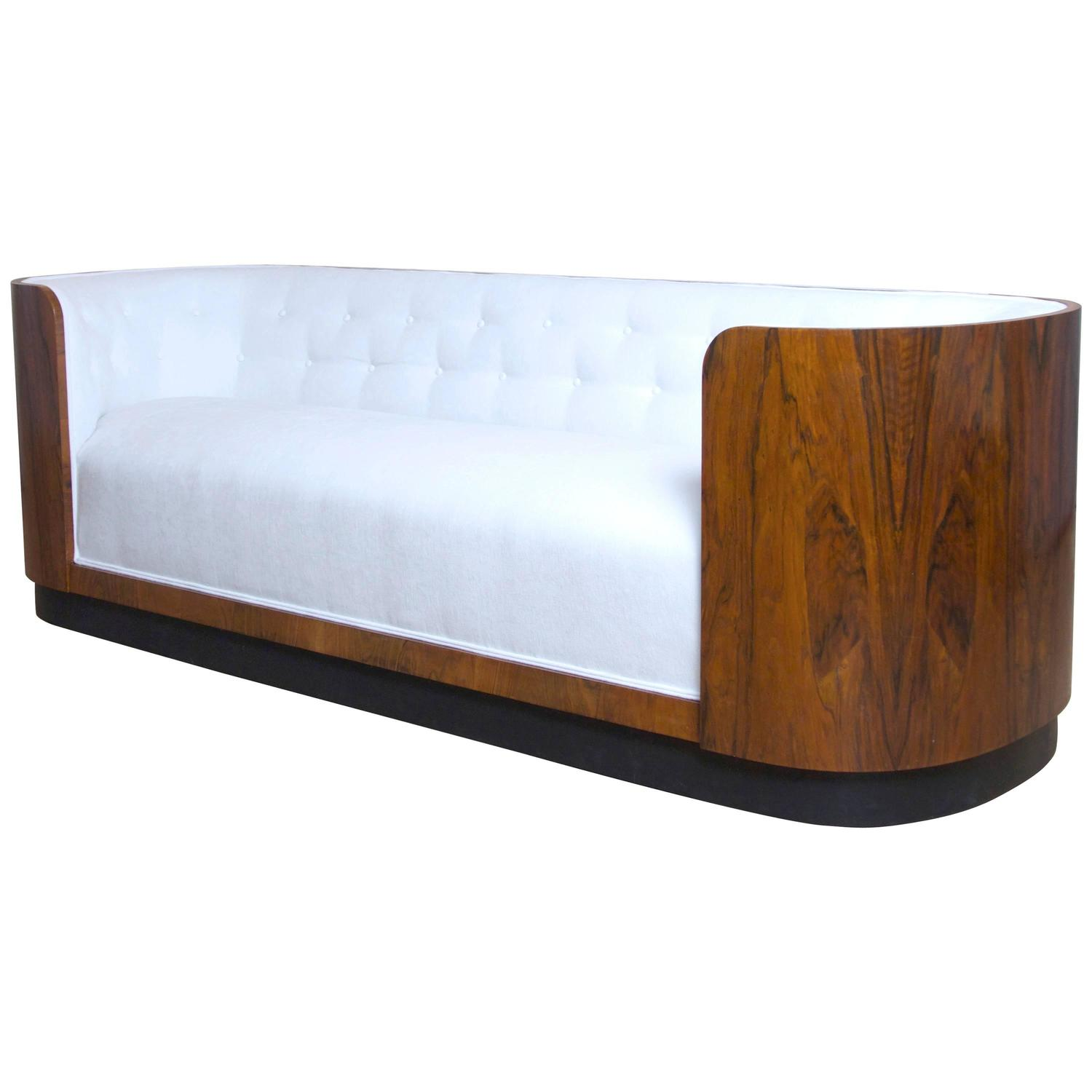 Art Nouveau Möbel Danish Art Deco Rosewood Sofa